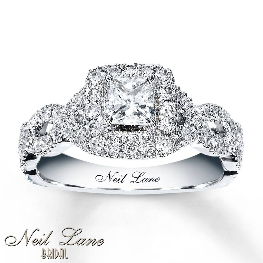 Kay – Neil Lane Engagement Ring 1 Ct Tw Diamonds 14K White Gold For 14K Wedding Rings (View 11 of 15)