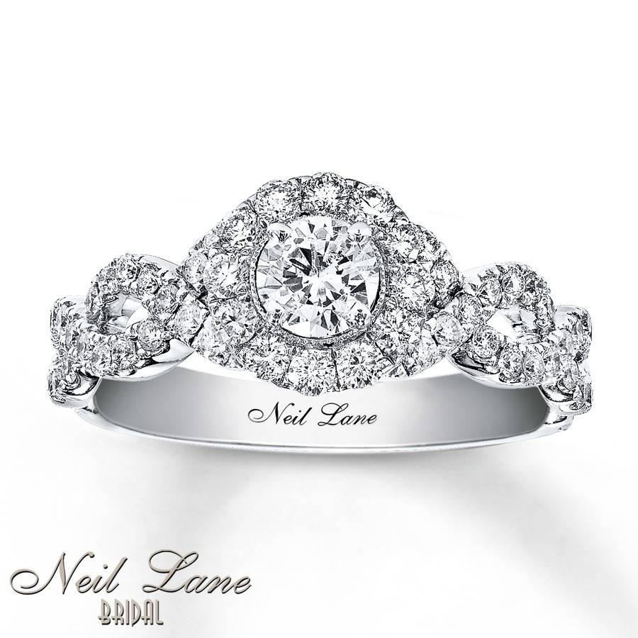 Kay – Neil Lane Engagement Ring 1 Ct Tw Diamonds 14K White Gold Inside White Gold Engagement Rings (Gallery 7 of 15)