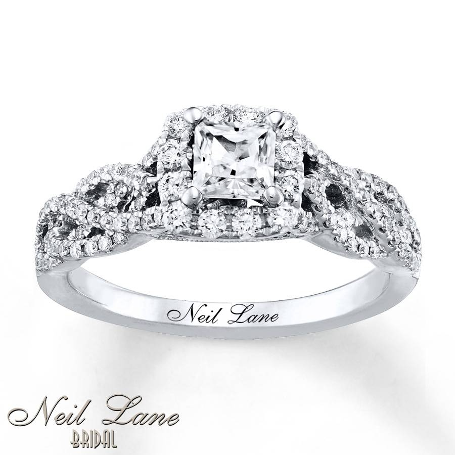 Kay – Neil Lane Engagement Ring 7/8 Ct Tw Diamonds 14K White Gold For Wedding Rings With Diamonds All Around (Gallery 7 of 15)