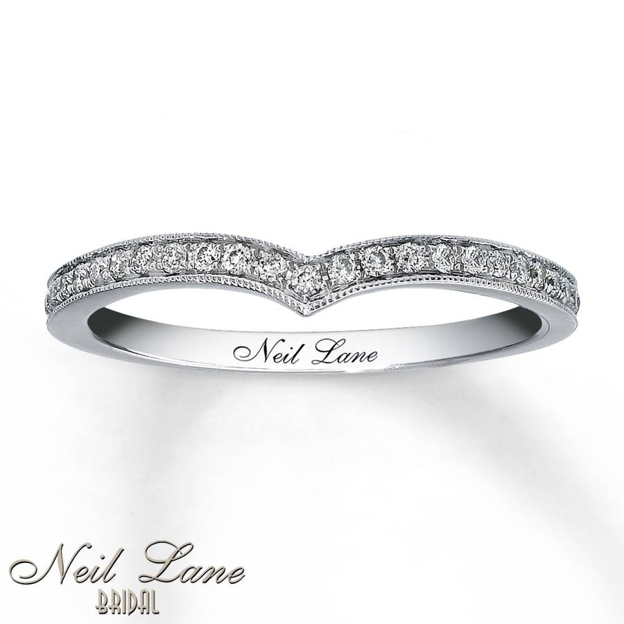 Kay – Neil Lane Wedding Band 1/5 Ct Tw Diamonds 14K White Gold Throughout Chevron Wedding Bands (View 9 of 15)