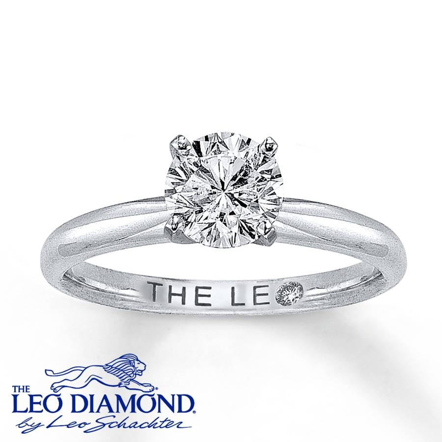 Kay – The Leo Diamond 1 Carat Solitaire Ring 14K White Gold Intended For Leo Diamonds Engagement Rings (View 12 of 15)