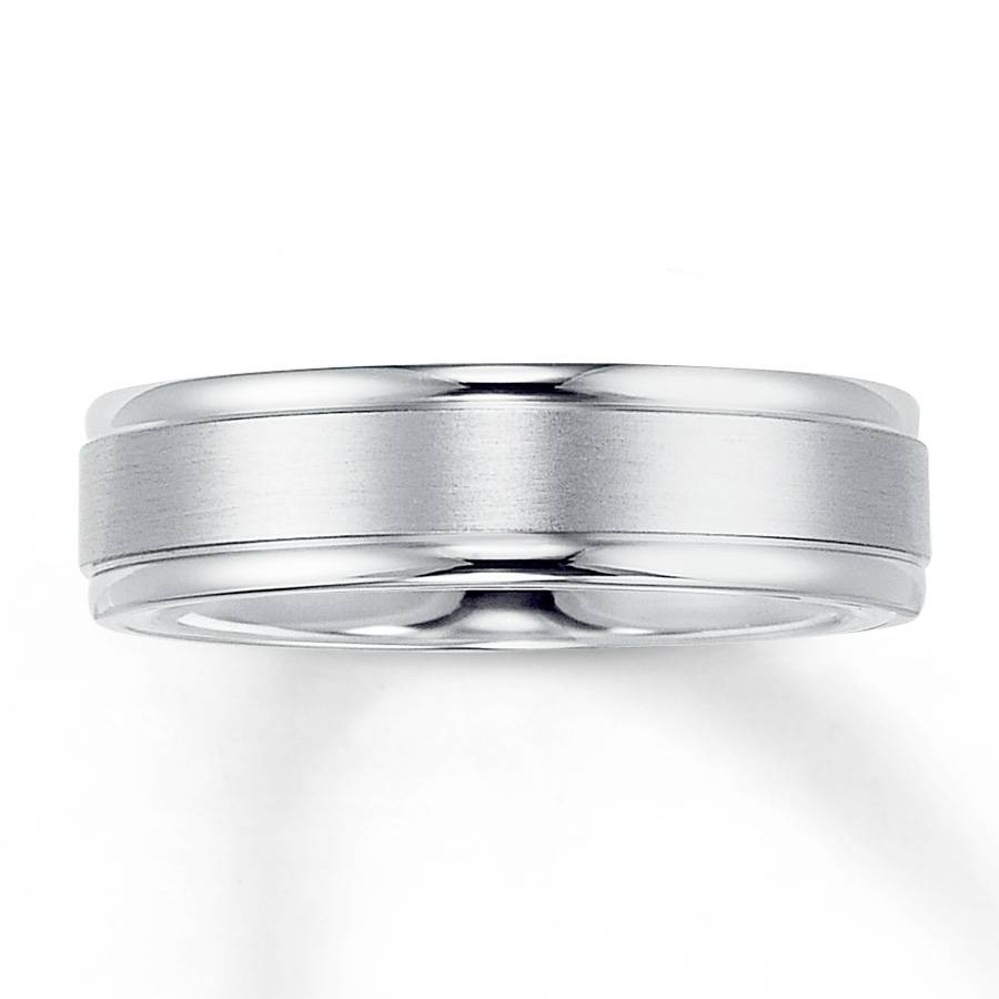 Kay – Wedding Band 14k White Gold 6mm In White Gold Mens Wedding Rings (View 9 of 15)