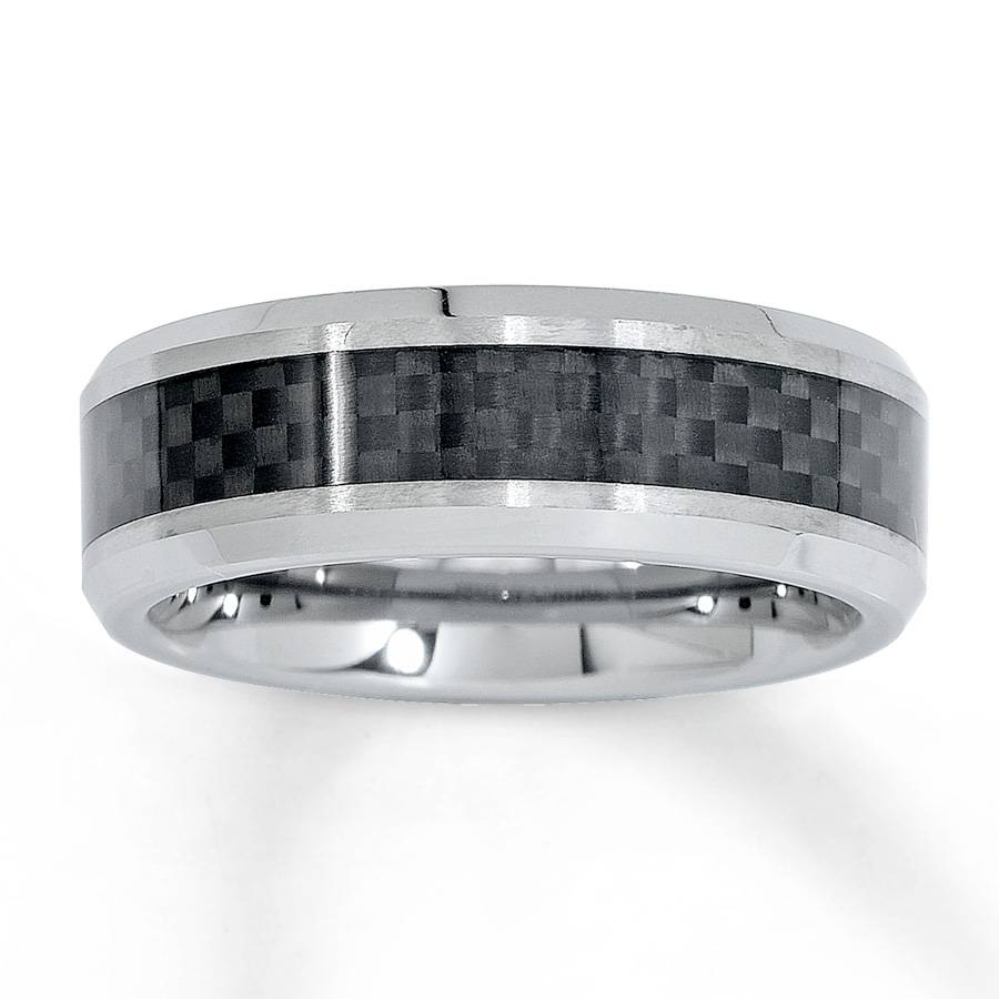 Kay – Wedding Band Tungsten Carbide Carbon Fiber 8Mm Within Kay Jewelers Wedding Bands For Men (View 10 of 15)