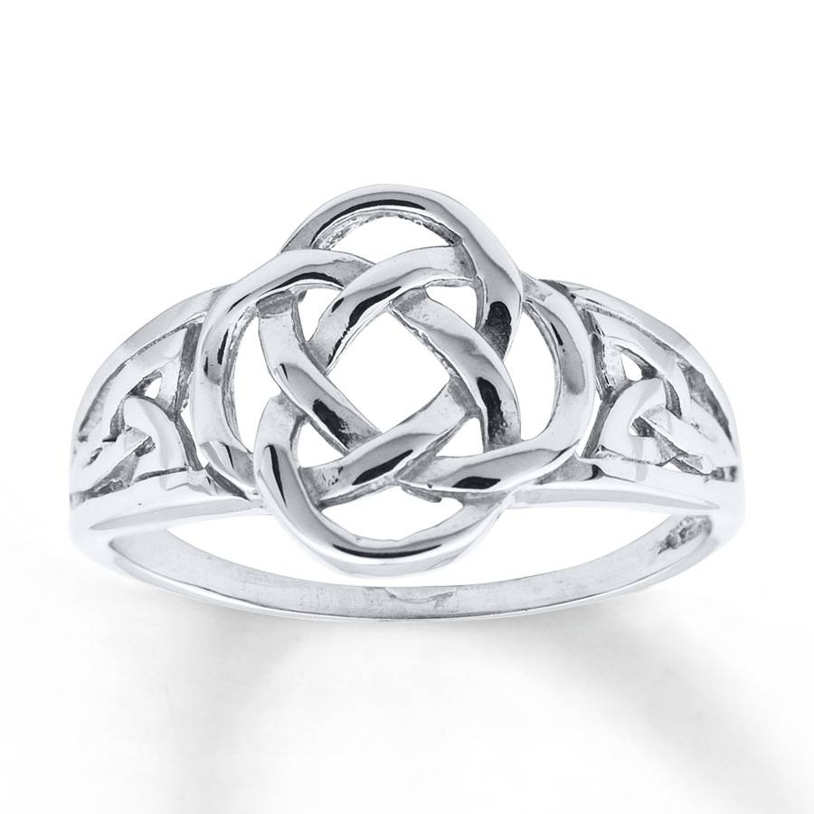 Kay – Women's Celtic Knot Ring 14K White Gold In Celtic Love Knot Engagement Rings (Gallery 8 of 15)