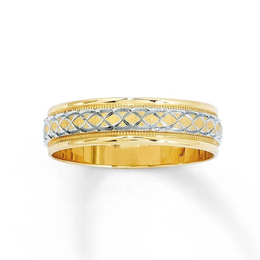 Kay – Women's Wedding Band 14K Yellow Gold 6Mm Inside Women's Yellow Gold Wedding Bands (View 9 of 15)