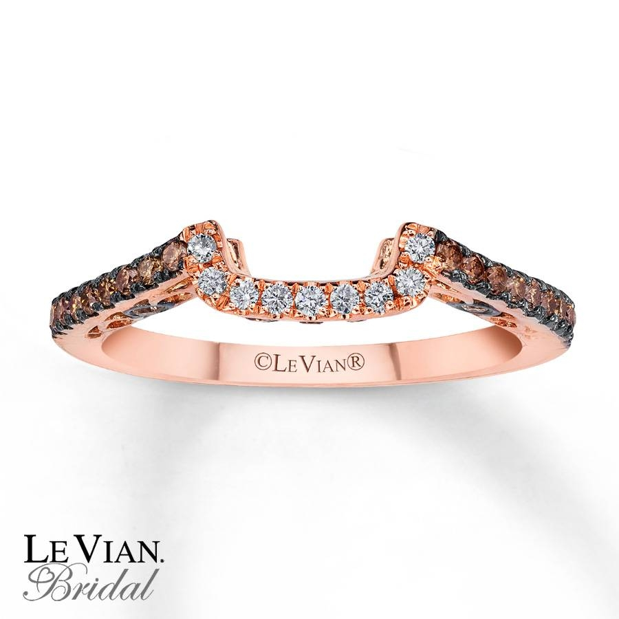 Kayoutlet – Le Vian Bridal Chocolate Diamonds 14K Gold Wedding Band Inside Chocolate Gold Wedding Bands (View 15 of 15)