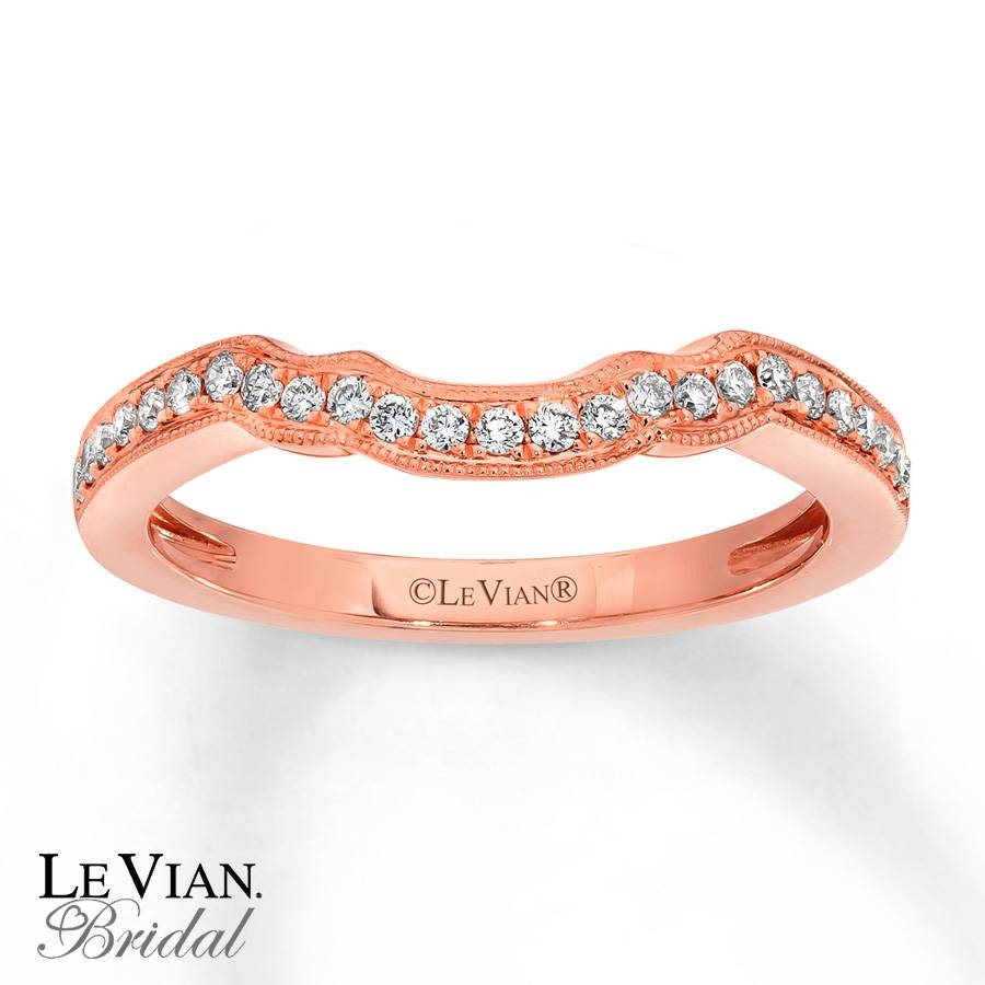 Kayoutlet – Le Vian Wedding Band 1/5 Ct Tw Diamonds 14K Strawberry Pertaining To Le Vian Wedding Bands (Gallery 8 of 15)