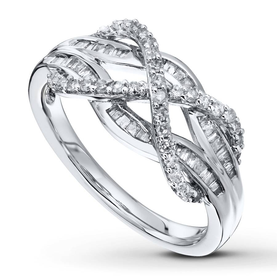 Kayoutlet – Love Knot Ring 1/2 Carat Tw Diamonds Sterling Silver With Regard To Infinity Knot Engagement Rings (View 11 of 15)