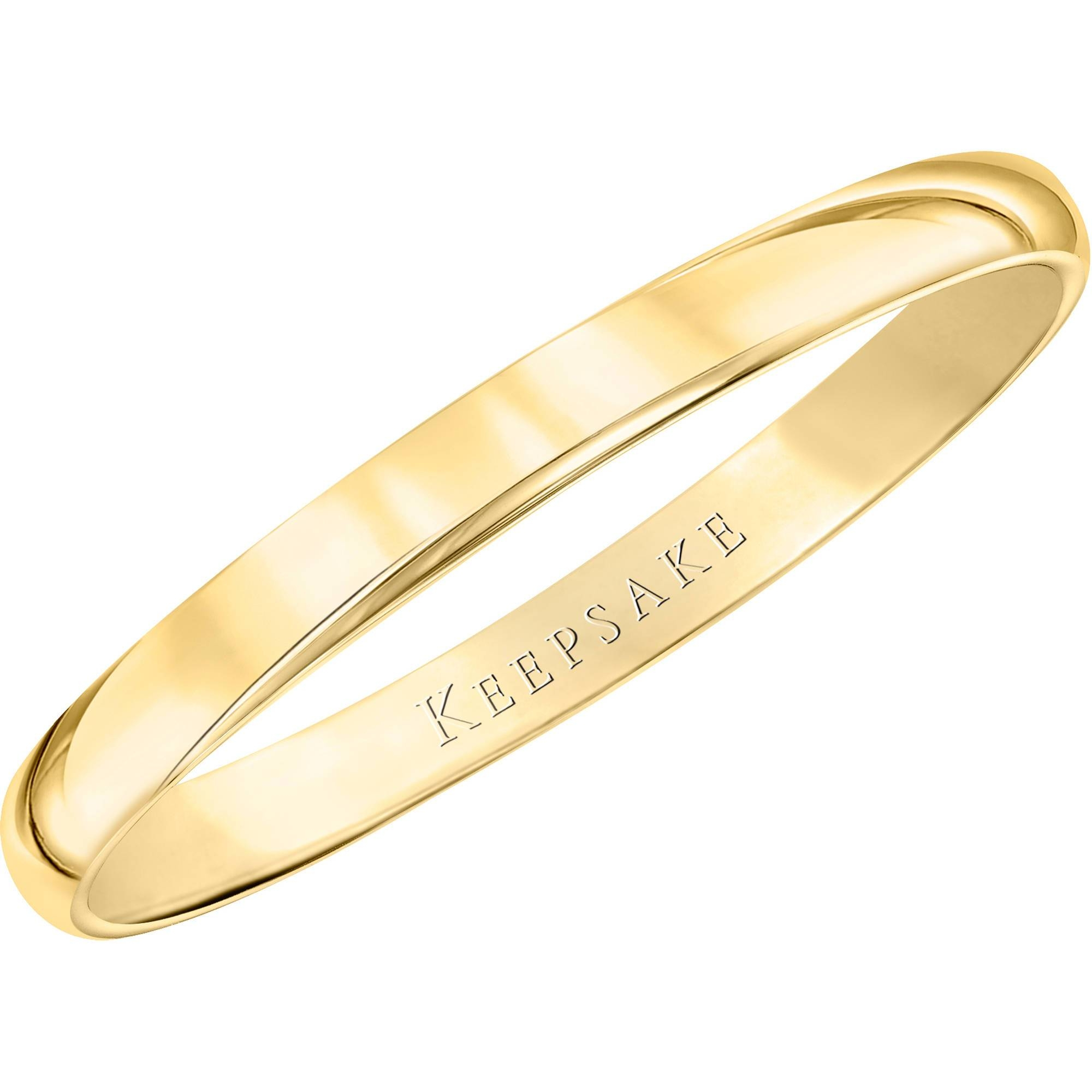 Keepsake 10Kt Yellow Gold Wedding Band With High Polish Finish Inside Wedding Bands For Women Walmart (View 7 of 15)