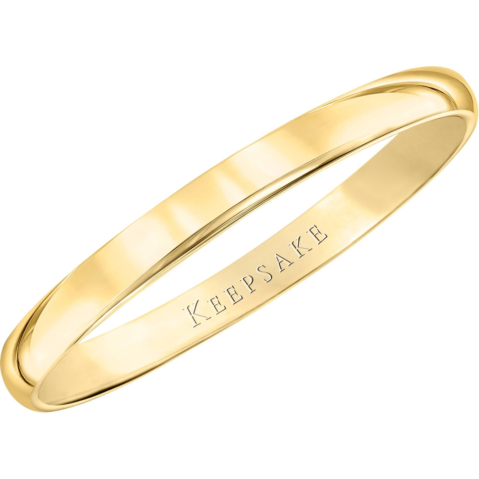 Keepsake 10Kt Yellow Gold Wedding Band With High Polish Finish Throughout Wedding Bands At Walmart (View 5 of 15)