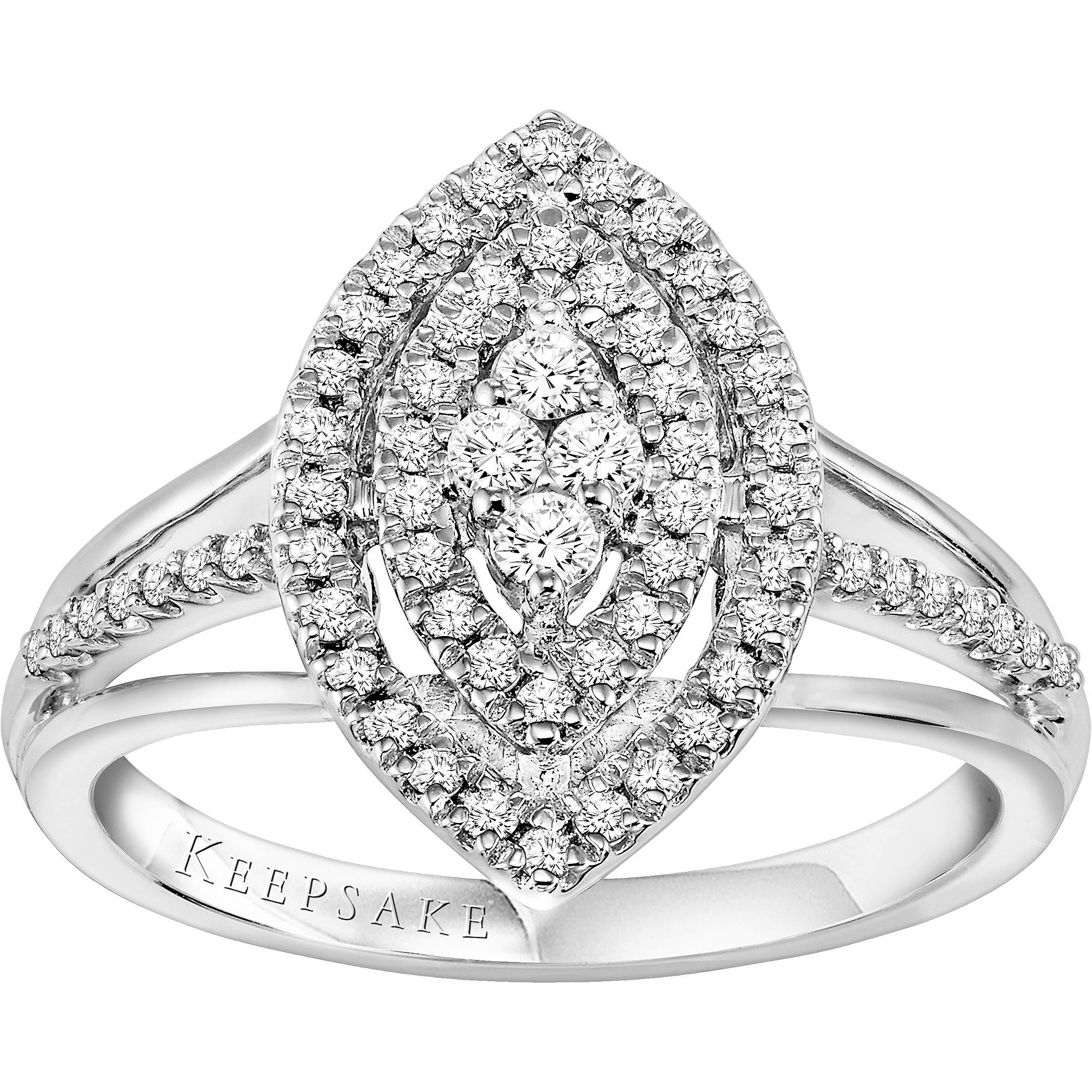 certified t gold silhouette diamond keepsake ring w engagement com reviews yellow rings ct walmart product