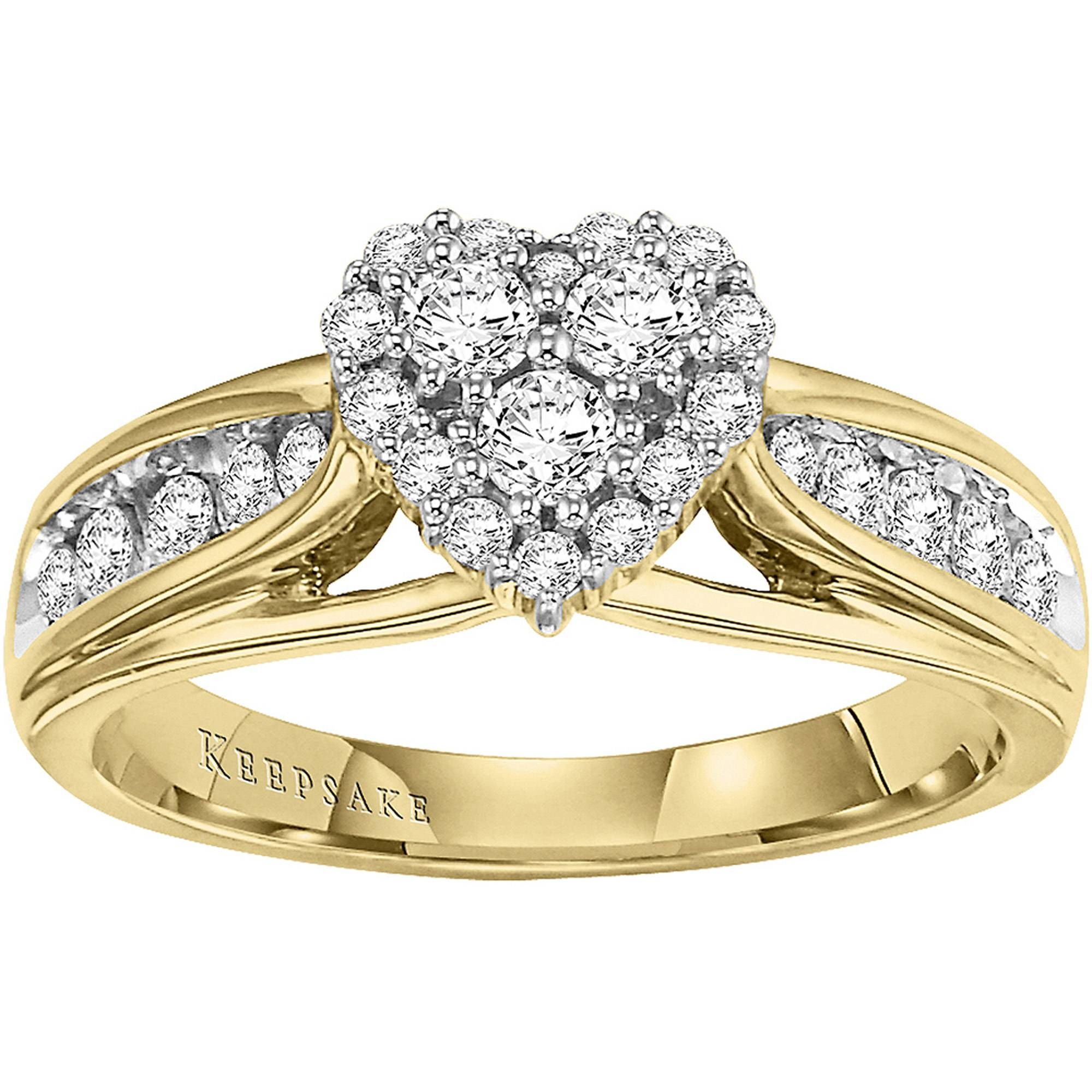 Keepsake Hearts Desire 1/2 Carat T.w. Certified Diamond 10Kt Regarding Keepsake Wedding Bands (Gallery 8 of 15)