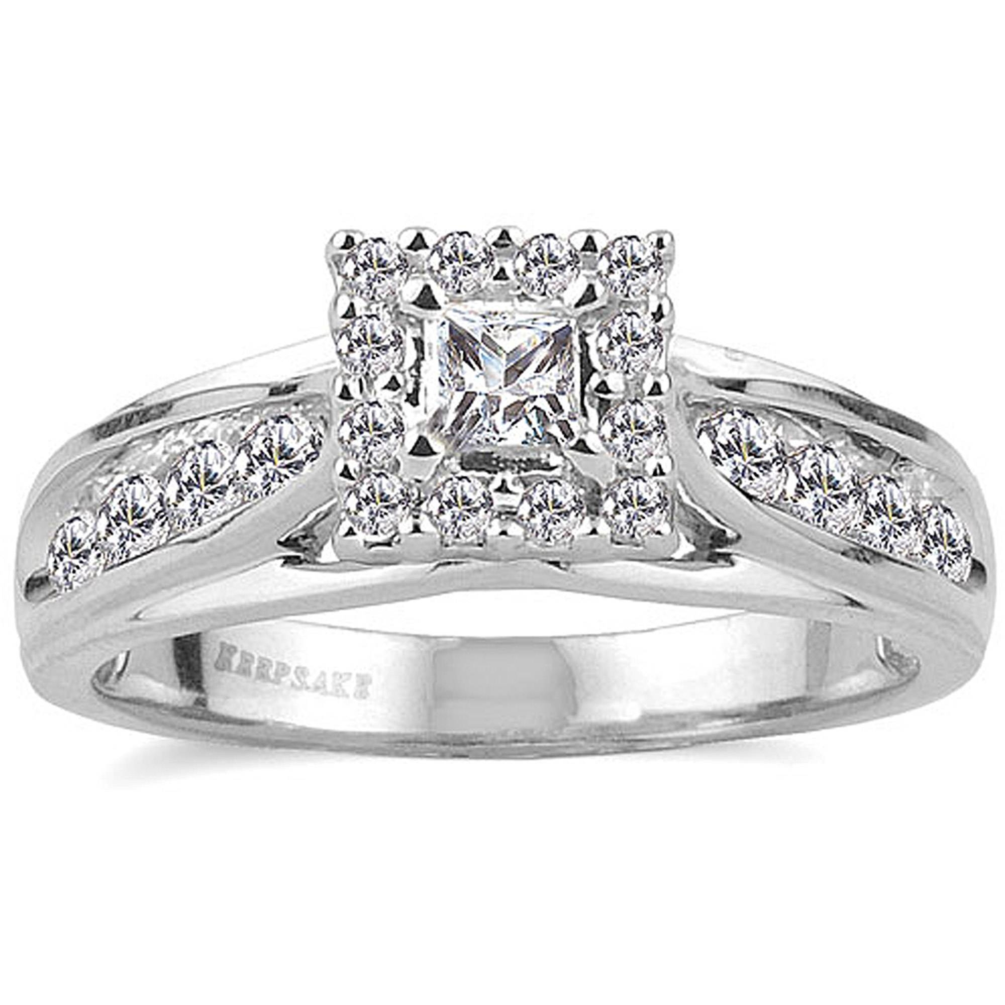 Keepsake Melody 1/2 Carat T.w. Certified Diamond 10Kt White Gold In Walmart Princess Cut Engagement Rings (Gallery 3 of 15)