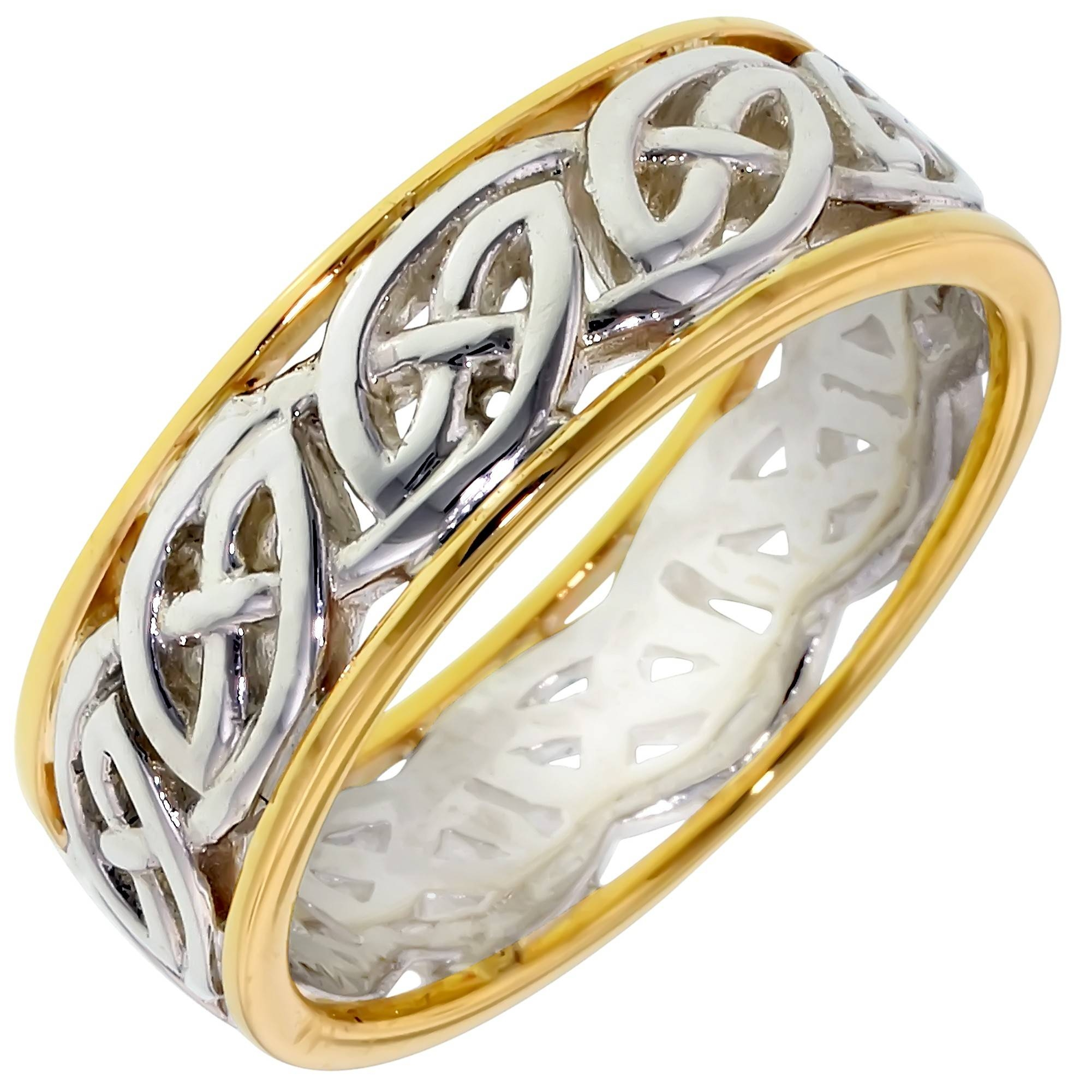Keith Jack Window To The Soul Mens Celtic Ring In Sterling Silver Within Mens Celtic Engagement Rings (Gallery 4 of 15)