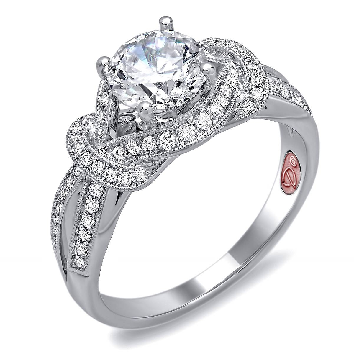 Knot Diamond Bridal Ring | Demarco Bridal Jewelry Official Blog For Knot Engagement Rings (View 11 of 15)