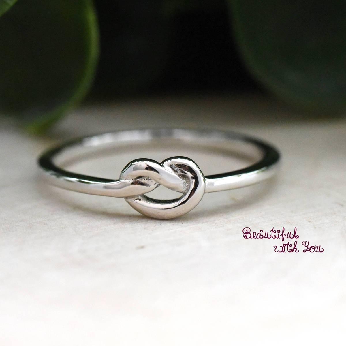 Knot Ring The Knot Promise Ring Womens Knot Ring Knot Ring In Tie The Knot Engagement Rings (View 15 of 15)