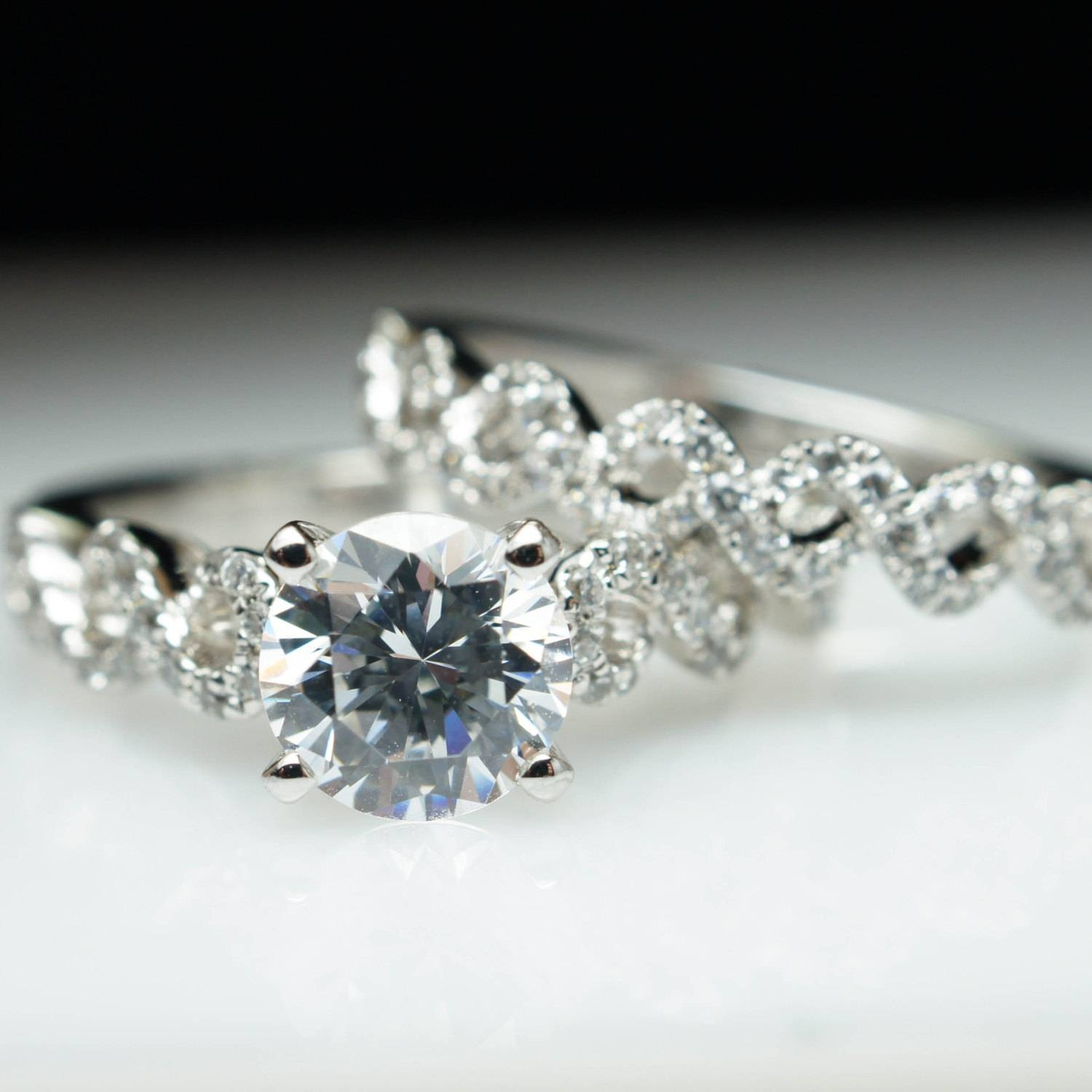Lacey Infiniti Twist Diamond Engagement Ring & Matching Within Wedding Bands For Twisted Engagement Rings (Gallery 13 of 15)