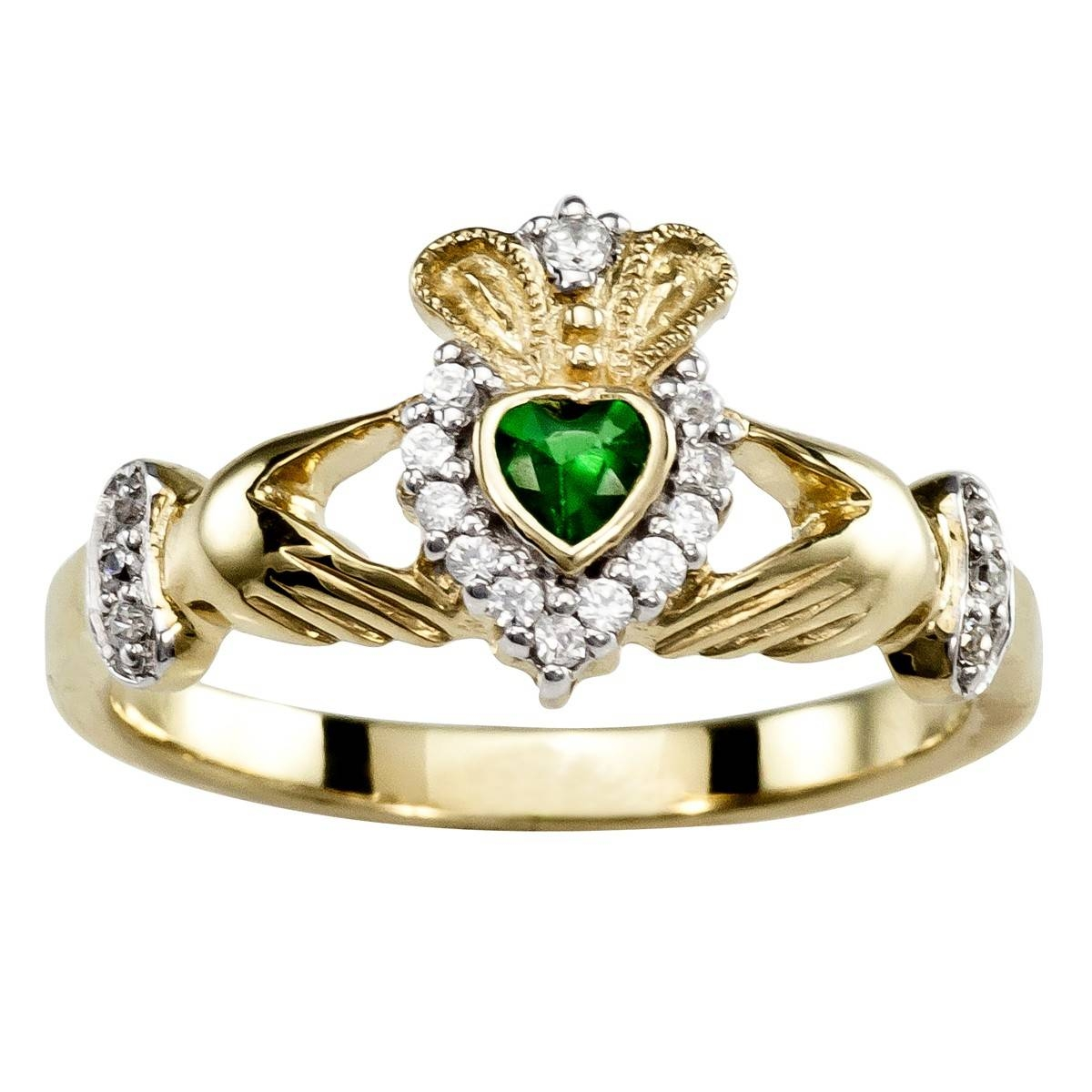 Ladies 10K/14K/18K Yellow Gold Emerald .25Cts And Diamonds  (View 10 of 15)