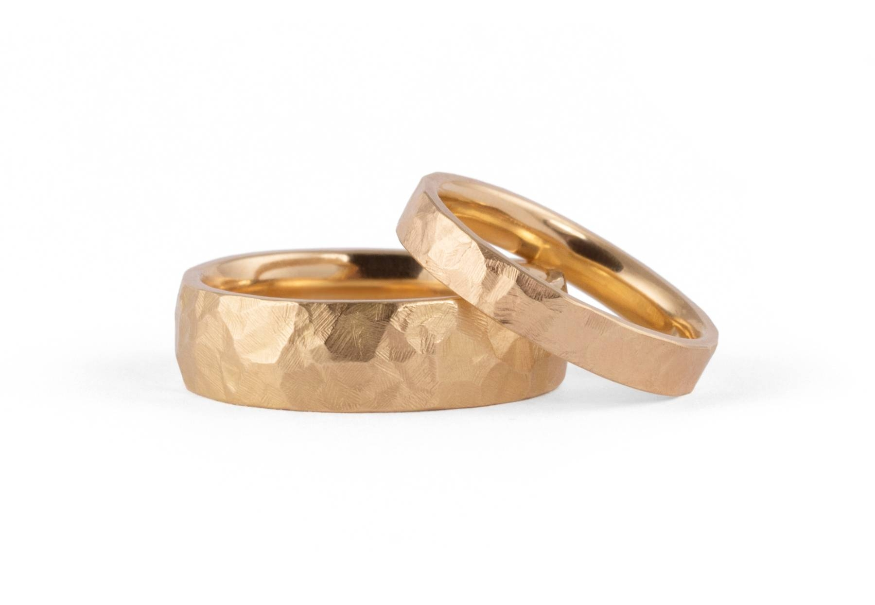 Ladies And Mens Hammered Wedding Bands – Mccaul Goldsmiths With Hammered Rose Gold Mens Wedding Bands (View 7 of 15)