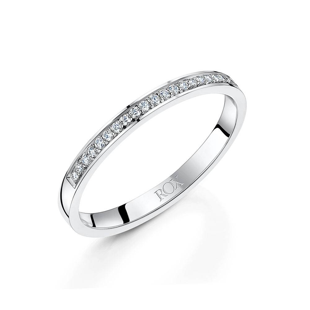 Ladies Platinum Diamond Wedding Ring  (View 10 of 15)