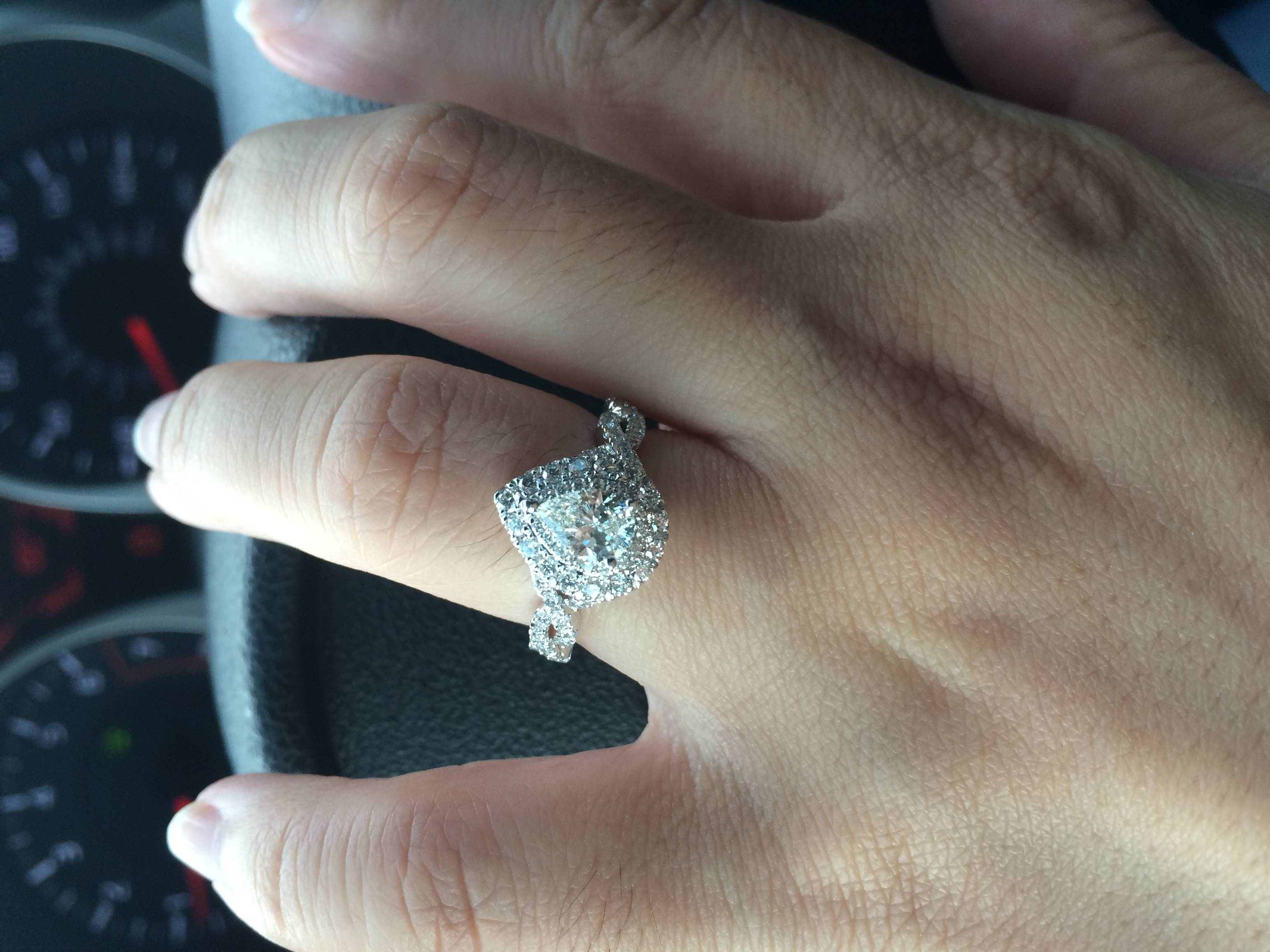 Ladies! Show Me Your Pear Shaped Engagement Ring With Wedding Band Intended For Wedding Band For Pear Shaped Engagement Rings (Gallery 7 of 15)