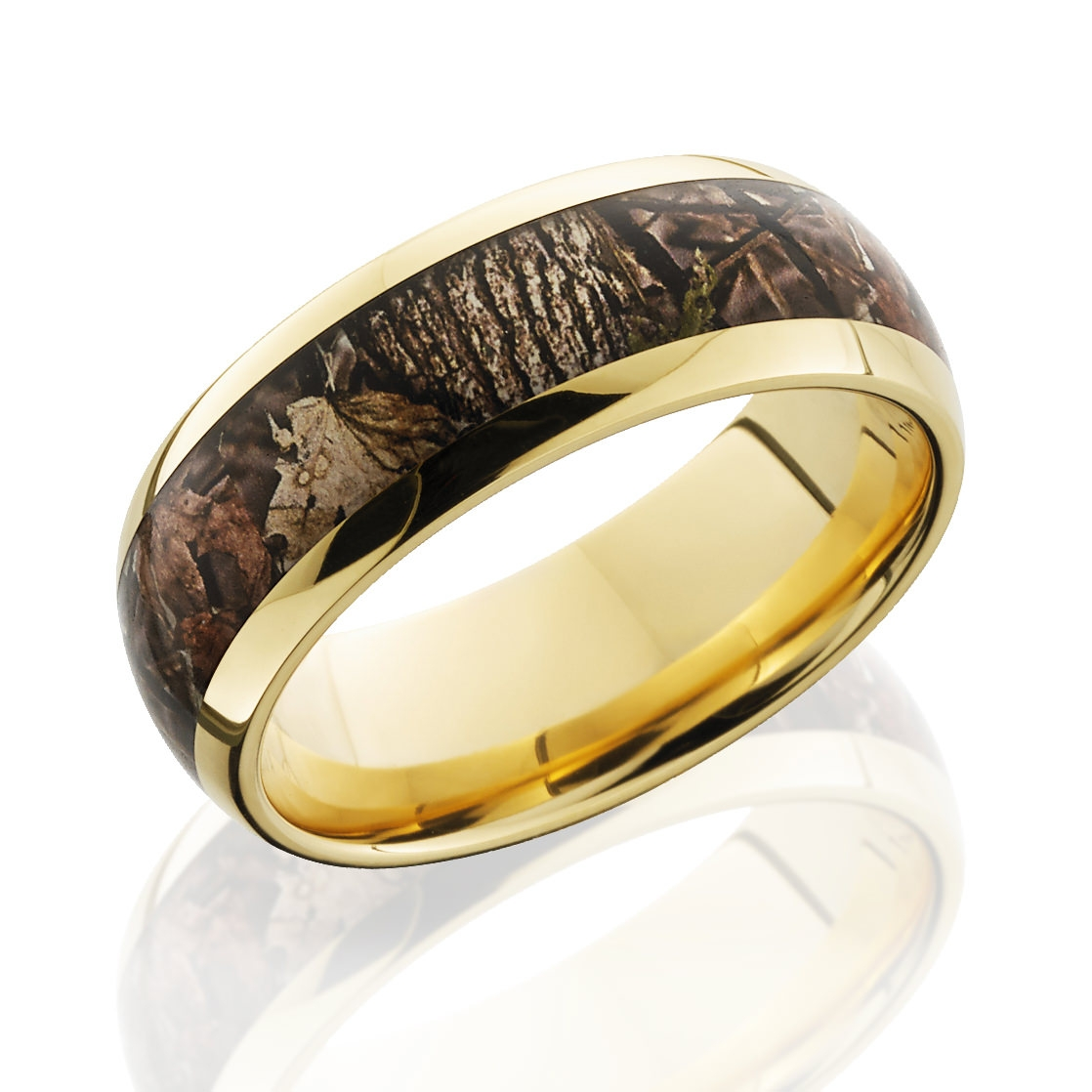Lashbrook King Camo 14 Karat Gold Camo Ring – 8Mm For Camo Wedding Bands (View 8 of 15)