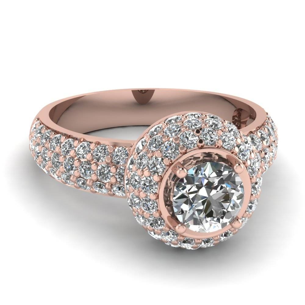 Latest Rose Gold Engagement Rings That Are Breathtaking With Crown Style Engagement Rings (Gallery 13 of 15)