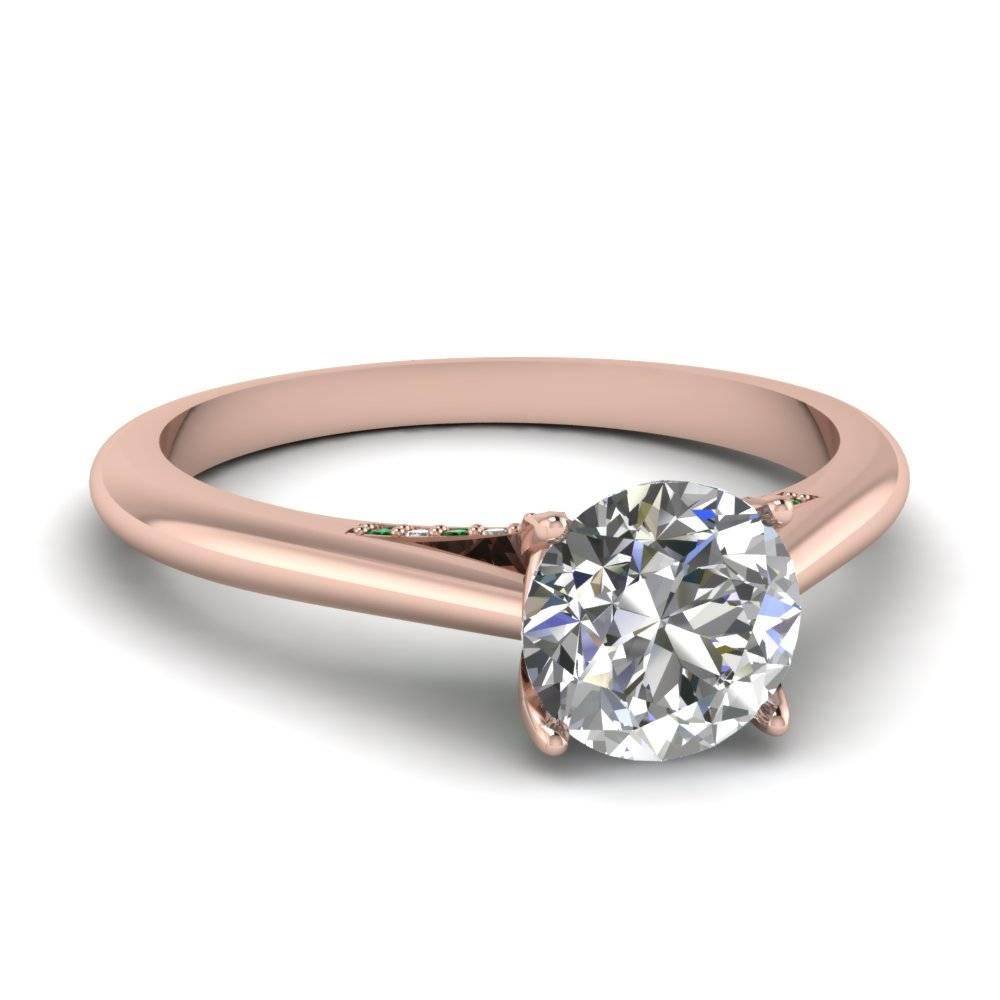 Latest Trends Of Thin Band Engagement Rings With Crown Style Engagement Rings (Gallery 10 of 15)