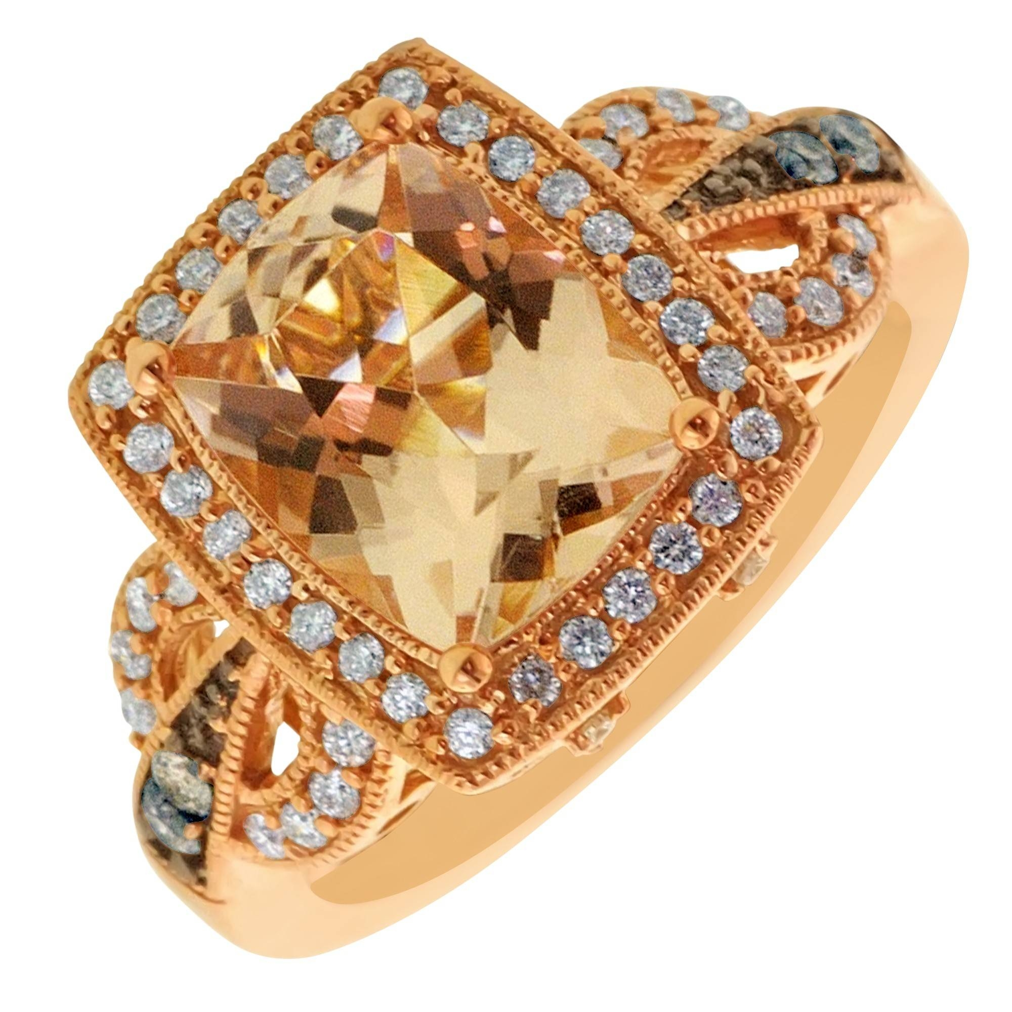 fancy yb colored diamond brown dark ring lugaro top rings diamonds gia chocolate collections certified