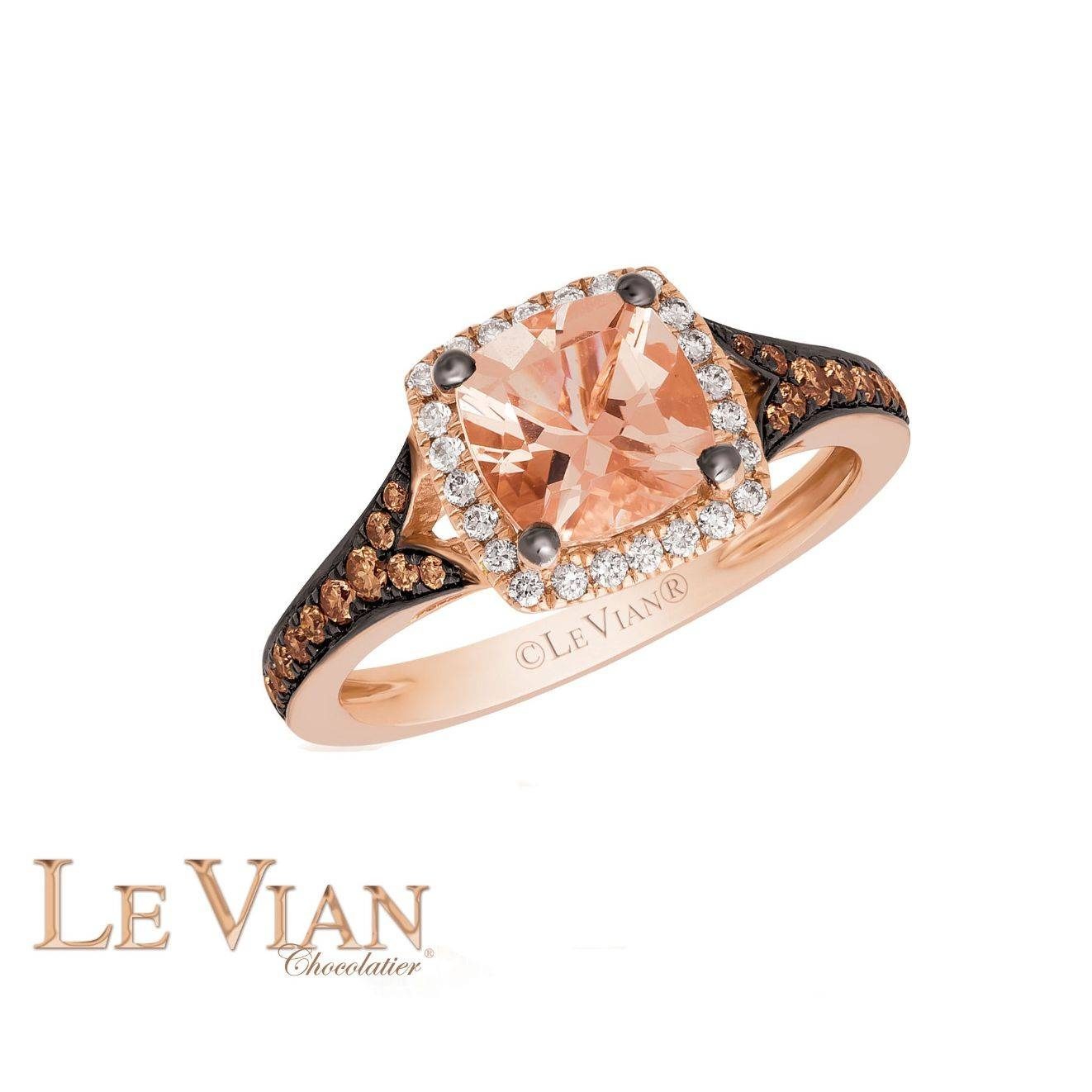 Le Vian® Peach Morganite™ Ring In 14K Strawberry Gold®, 1/3Ctw Inside Strawberry Gold Wedding Rings (Gallery 7 of 15)