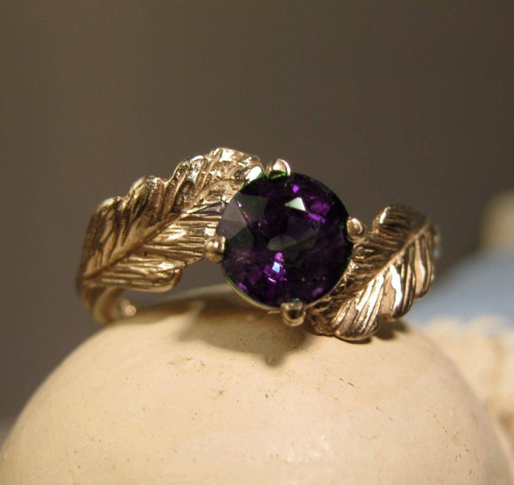 Leaf Ring 14K Gold Ring Wiccan Forest In Wiccan Engagement Rings (View 13 of 15)