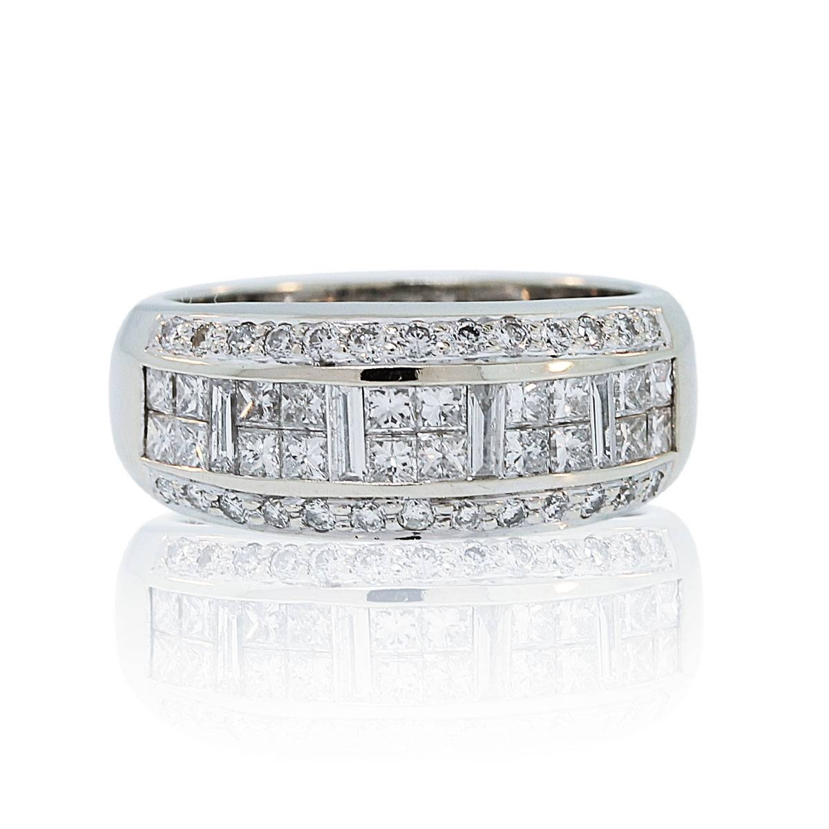 Levian 14k White Gold 1ctw Diamond Wedding Band Regarding Le Vian Wedding Bands (View 13 of 15)