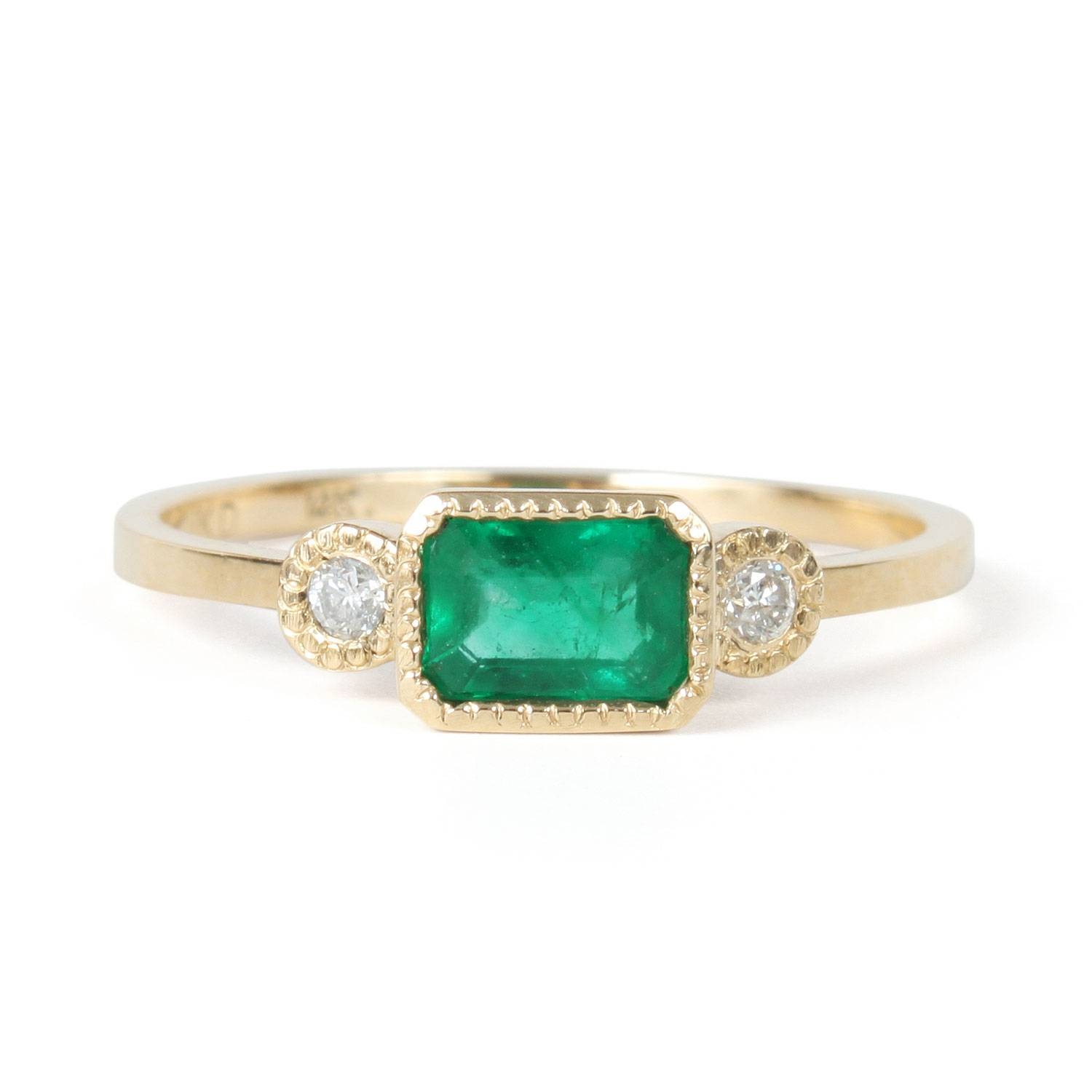 Lexie Emerald Ring – Catbird With Emerald Wedding Rings (Gallery 4 of 15)
