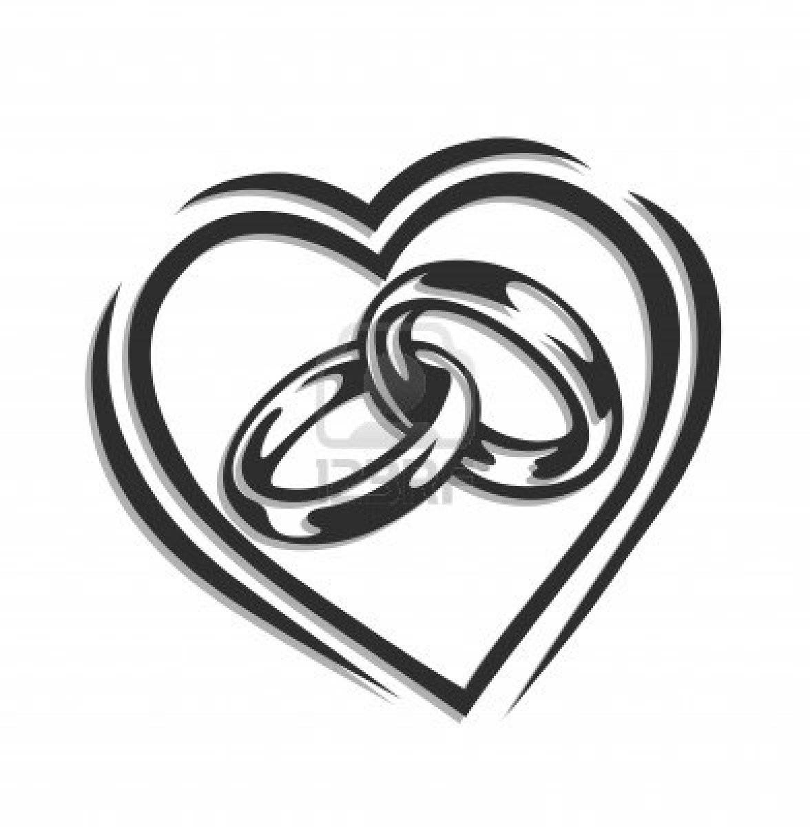 Linked Wedding Rings Clipart | Clipart Panda – Free Clipart Images Intended For Interlocking Wedding Bands (View 13 of 15)