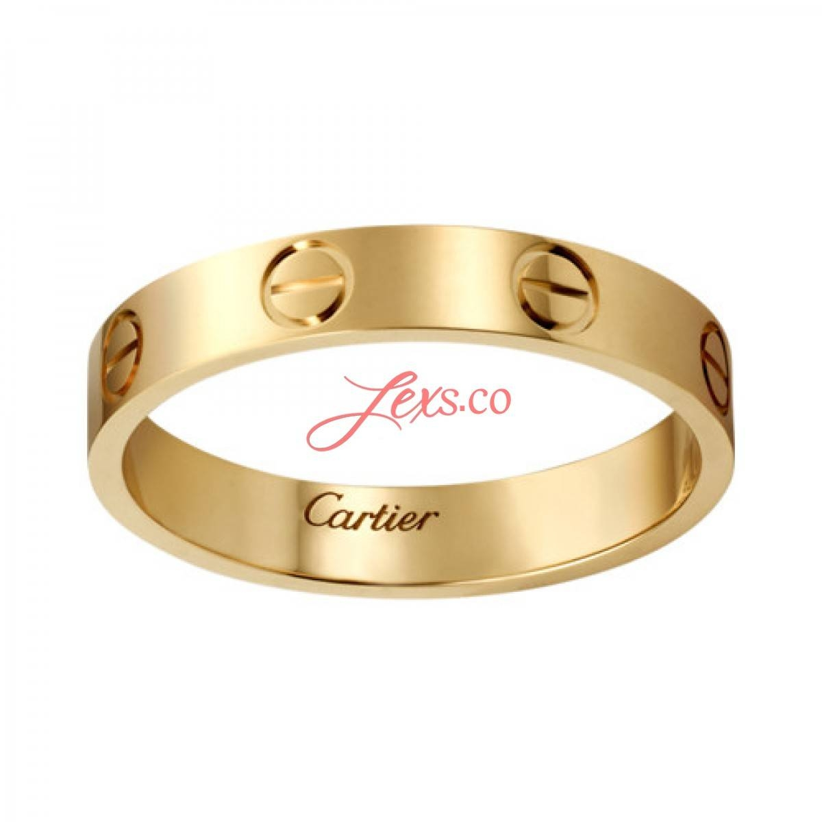 Love Wedding Band Replica 18K Yellow Gold Love Ring Copy B4085000 Throughout Cartier Men Wedding Bands (View 13 of 15)