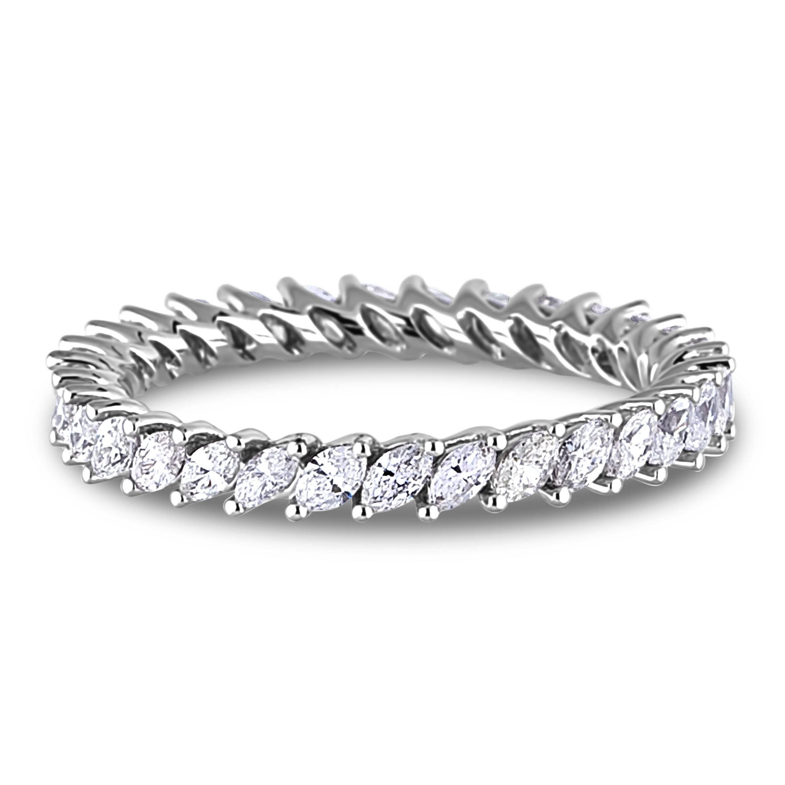 Lugaro | Eternity Diamond Band Pertaining To Marquis Wedding Bands (Gallery 6 of 15)