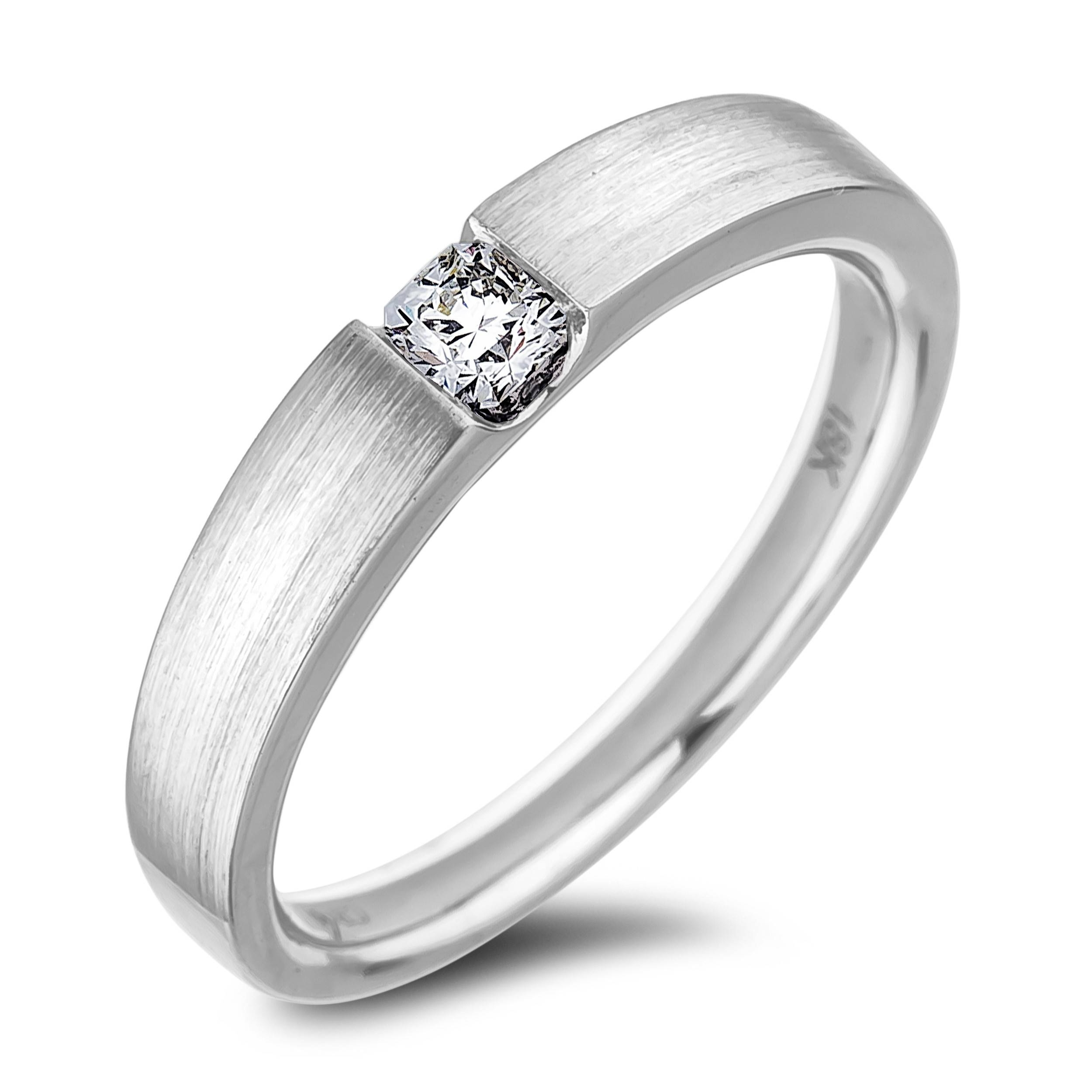 Lugaro | Forevermark Tension Set Diamond Ring Regarding Tension Set Engagement Rings With Wedding Bands (View 3 of 15)