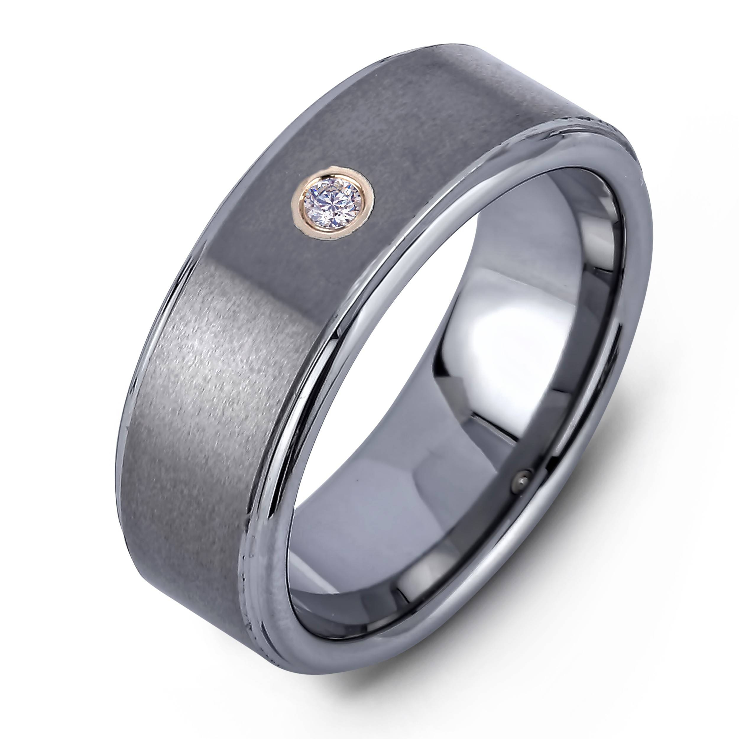 Lugaro | Men's Diamond Tungsten Wedding Band Throughout Men's Titanium Wedding Bands With Diamonds (View 4 of 15)
