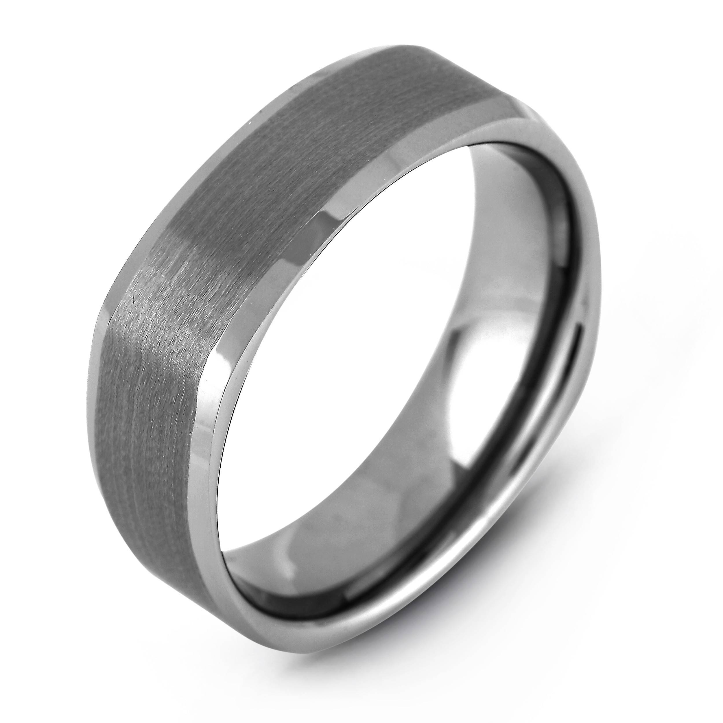 Lugaro | Men's Tungsten Ring – Men's Wedding Band – Wedding Bands For Square Mens Wedding Rings (View 8 of 15)