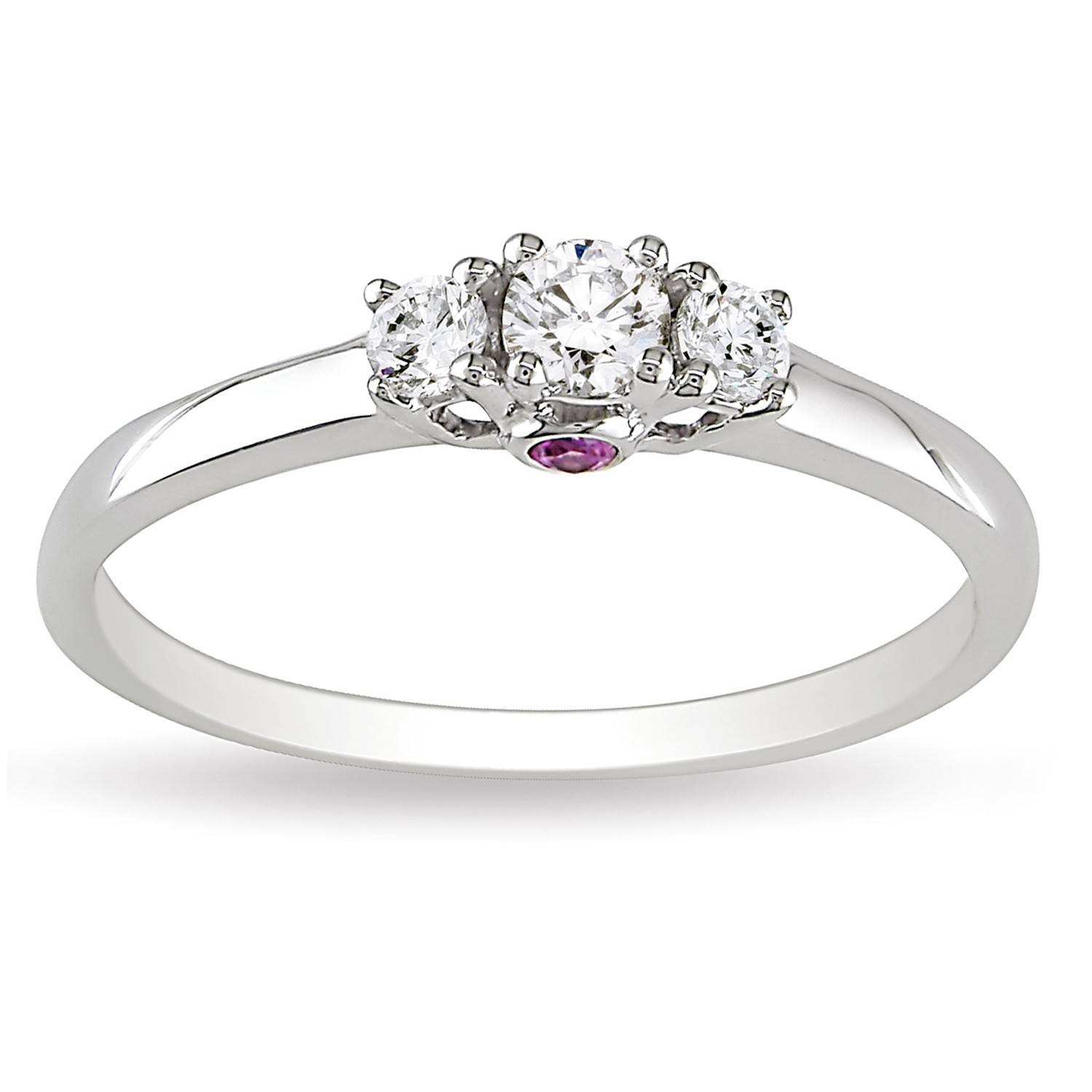 Luxurious Three Stone Trilogy Sapphire Affordable Three Stone With White Gold Trilogy Engagement Rings (View 11 of 15)