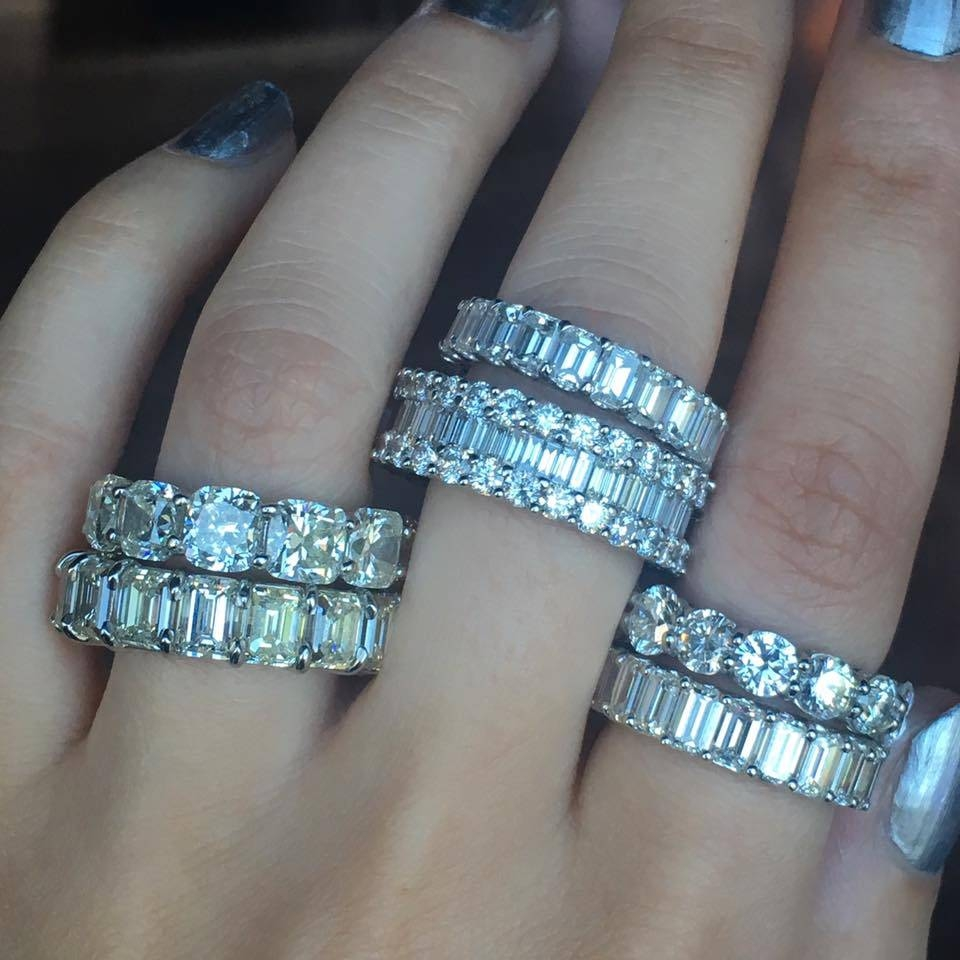 Major Eternity Bands – Raymond Lee Jewelers Within Wedding Rings With Diamonds All The Way Around (View 7 of 15)