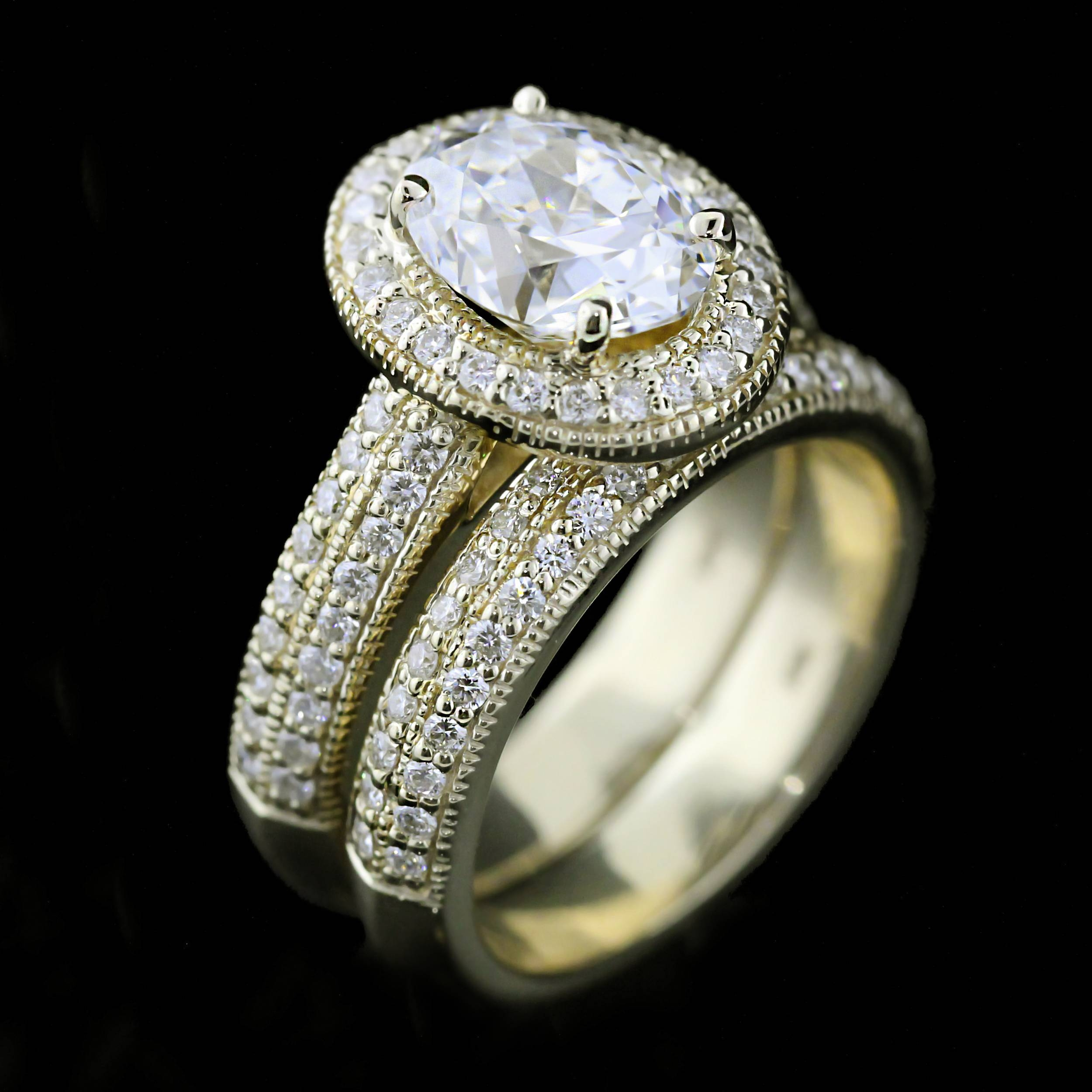 stone shipping engagement overstock miadora created diamond accent watches and white today miadonna ring rings sapphire free product jewelry gold