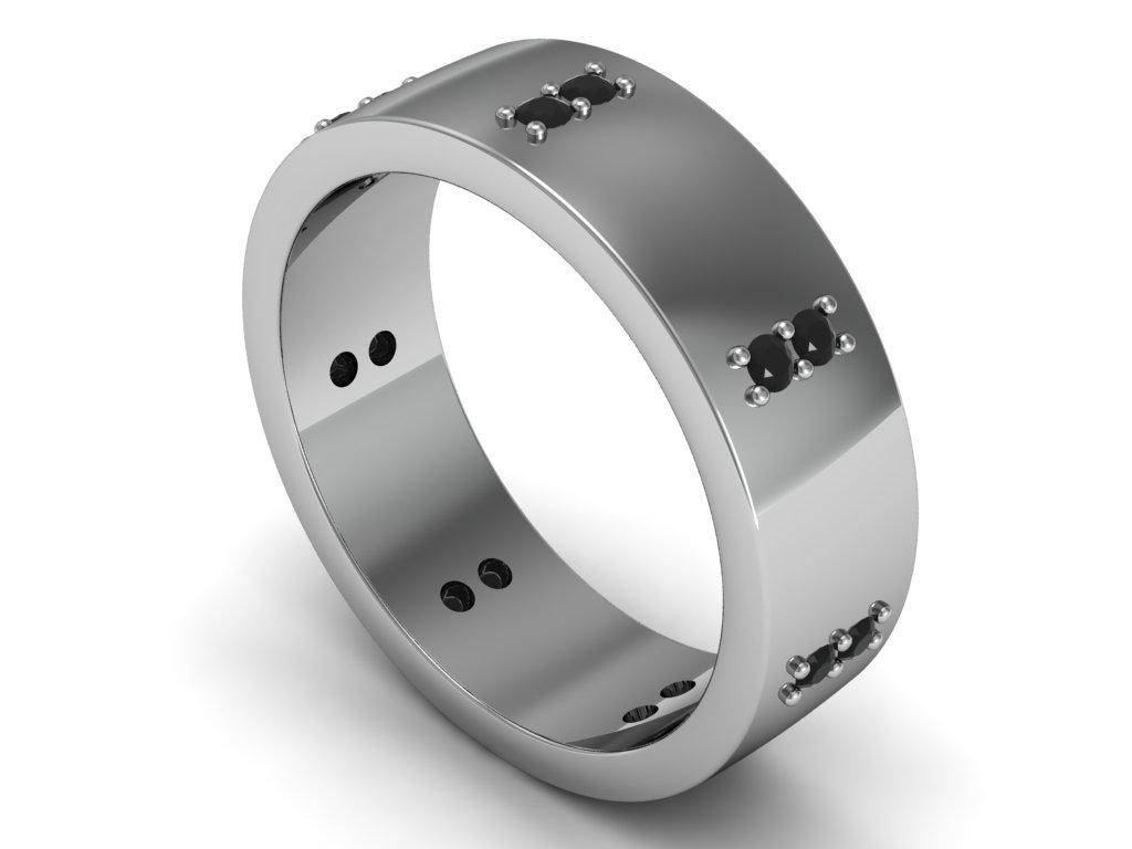 Masculine And Cool Platinum Wedding Bands For Men | Wedding Ideas With Regard To Men's Titanium Wedding Bands With Diamonds (View 5 of 15)