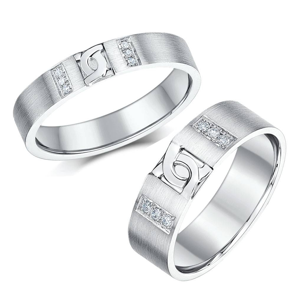 Matching Silver Wedding Ring Sets For Him And Her Regarding Silver Wedding Bands For Her (View 8 of 15)