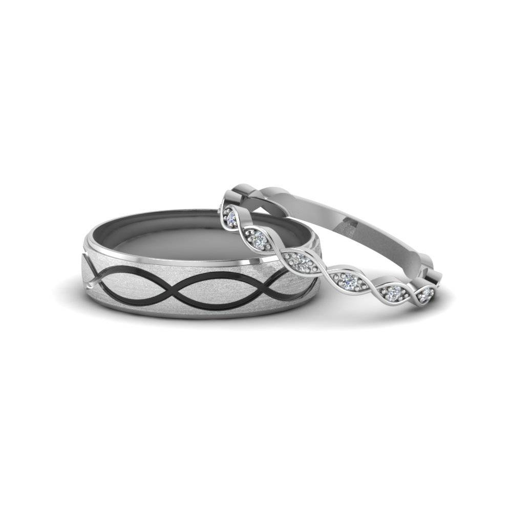 Matching Wedding Bands For Him And Her Fascinating Diamonds In Infinity Band Engagement