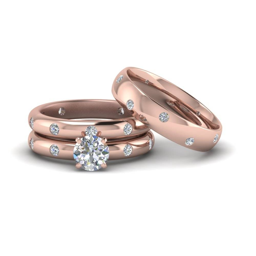 Matching Wedding Bands For Him And Her | Fascinating Diamonds Inside Matching Engagement Rings For Him And Her (View 6 of 15)