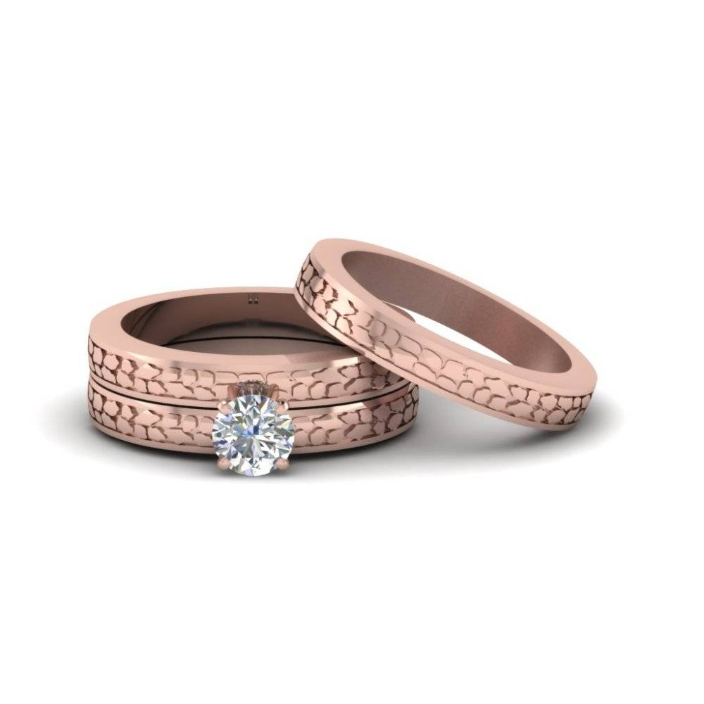 Matching Wedding Bands For Him And Her | Fascinating Diamonds Throughout Cheap Rose Gold Wedding Bands (View 7 of 15)