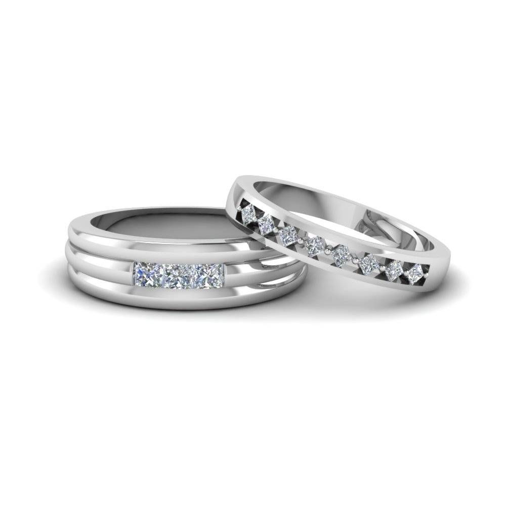 Matching Wedding Bands For Him And Her | Fascinating Diamonds Within Platinum Wedding Bands For Her (View 11 of 15)