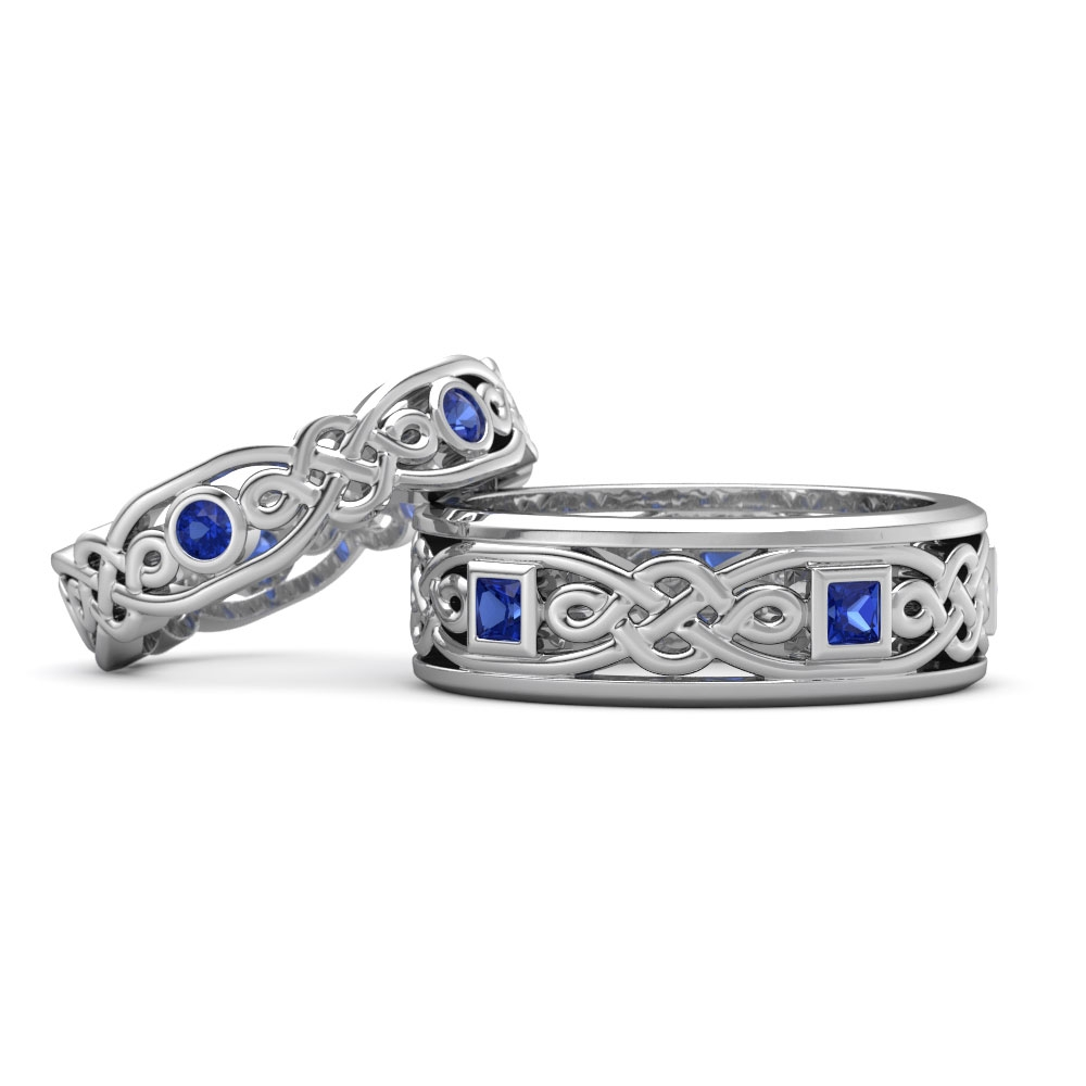 Matching Wedding Bands | Gemvara For Celtic Engagement And Wedding Ring Sets (Gallery 8 of 15)