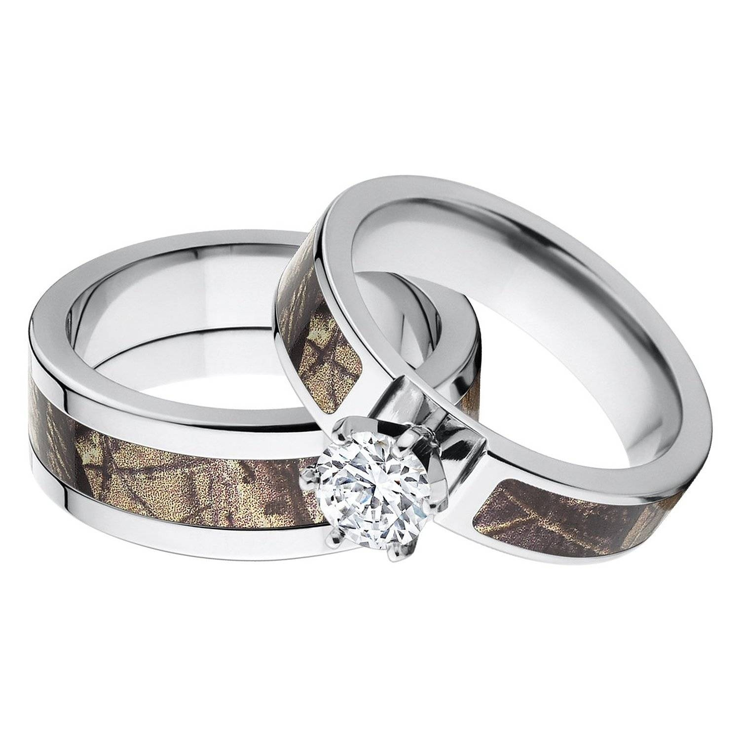 Matching Wedding Bands Show Your Forever Love In A Band | Wedding Inside Camo Wedding Rings With Diamonds (View 6 of 15)